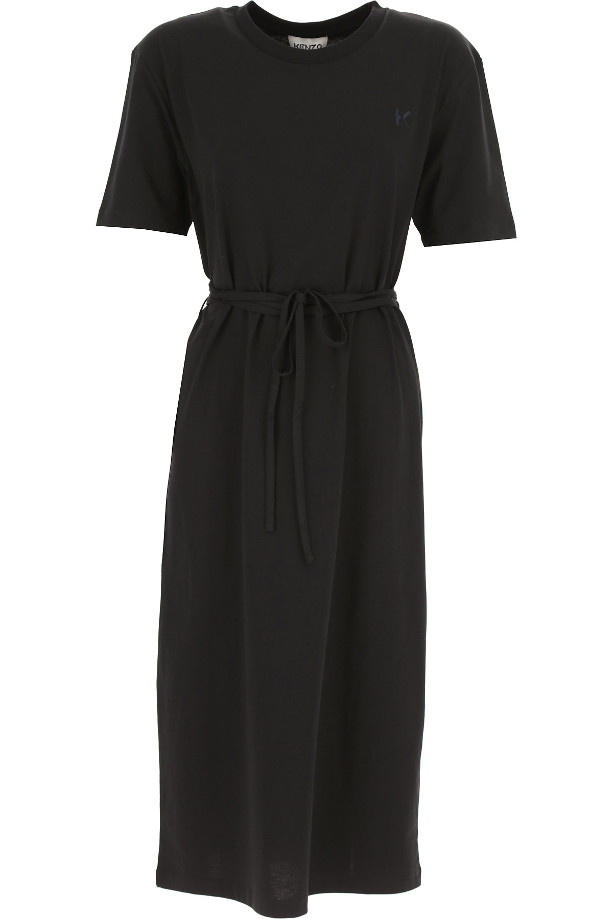 Kenzo Dress for Women, Evening Cocktail Party On Sale, Black, Cotton, 2019, 6 8
