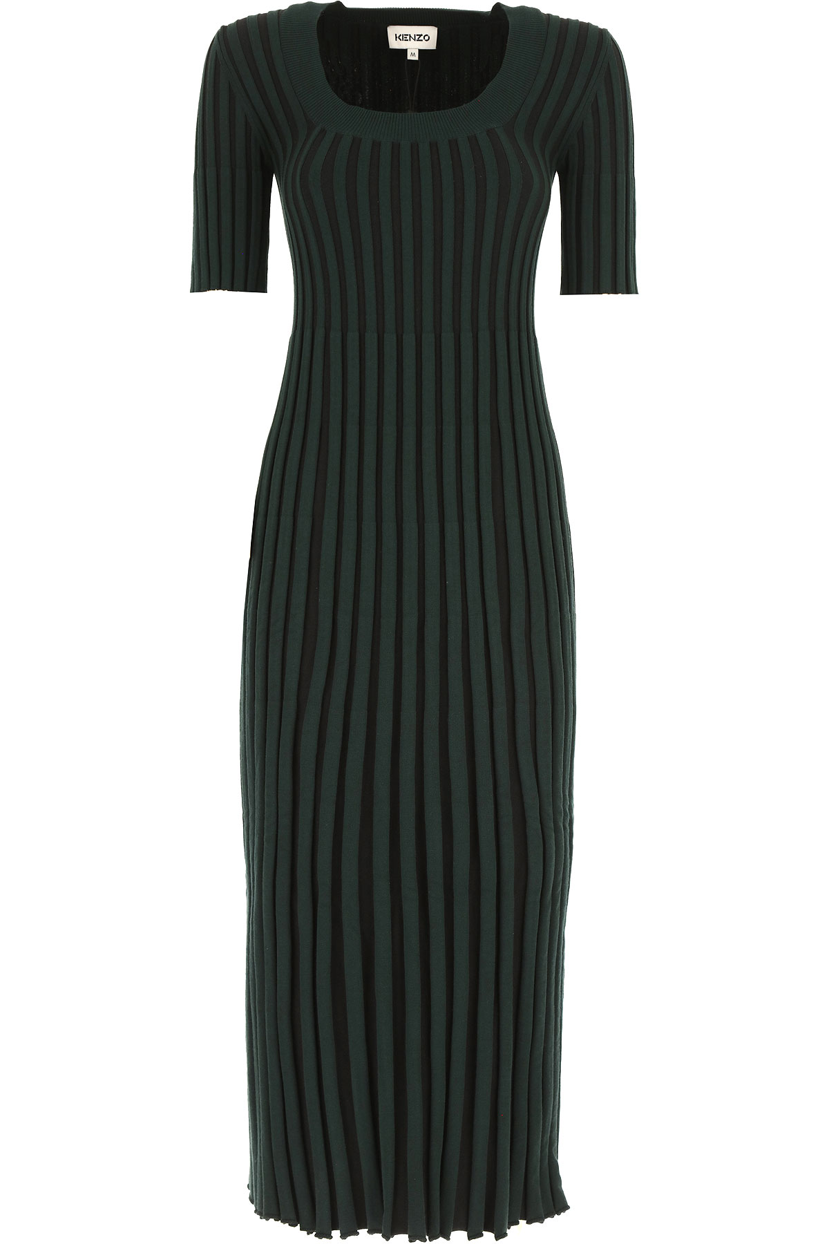 Kenzo Dress for Women, Evening Cocktail Party On Sale, Dark Green, viscosa, 2019, 6 8