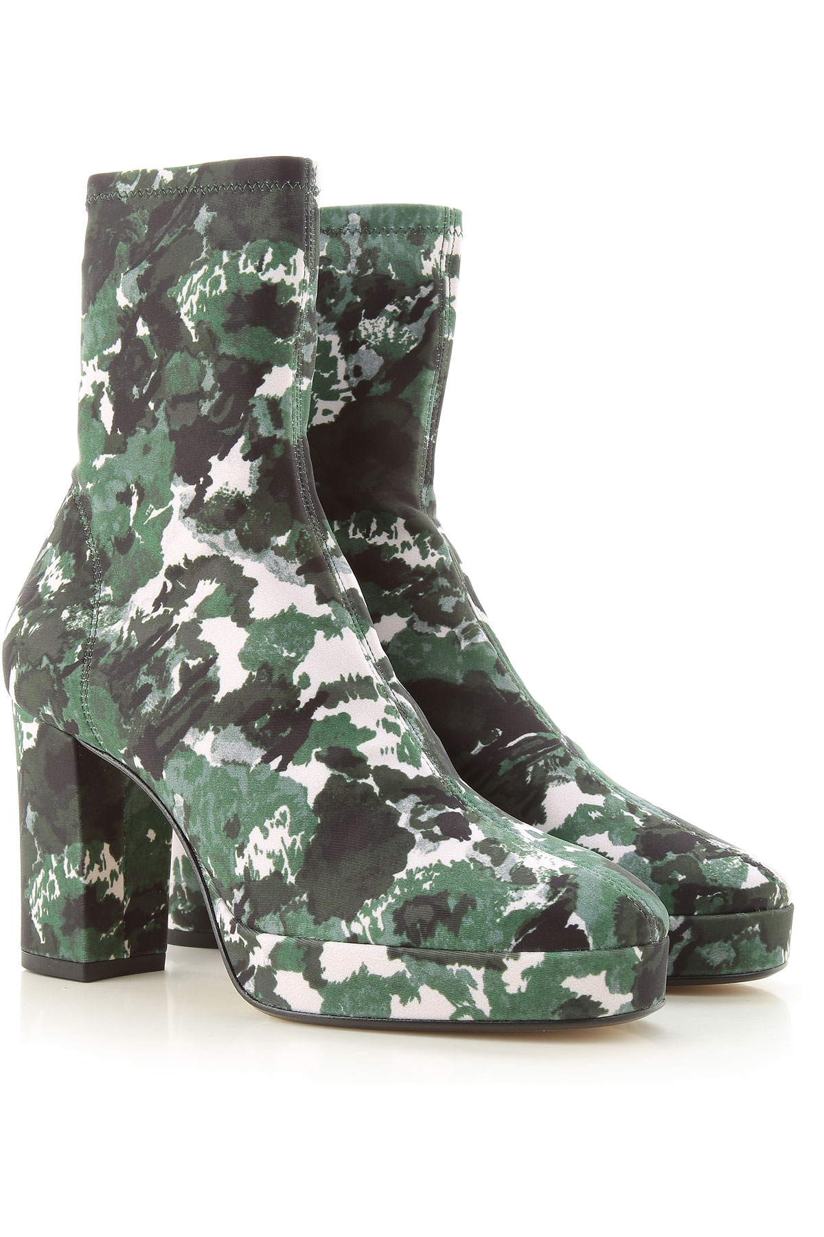 Kenzo Boots for Women, Booties On Sale, Green, Stretch Fabric, 2019, 10 11 6 7 8