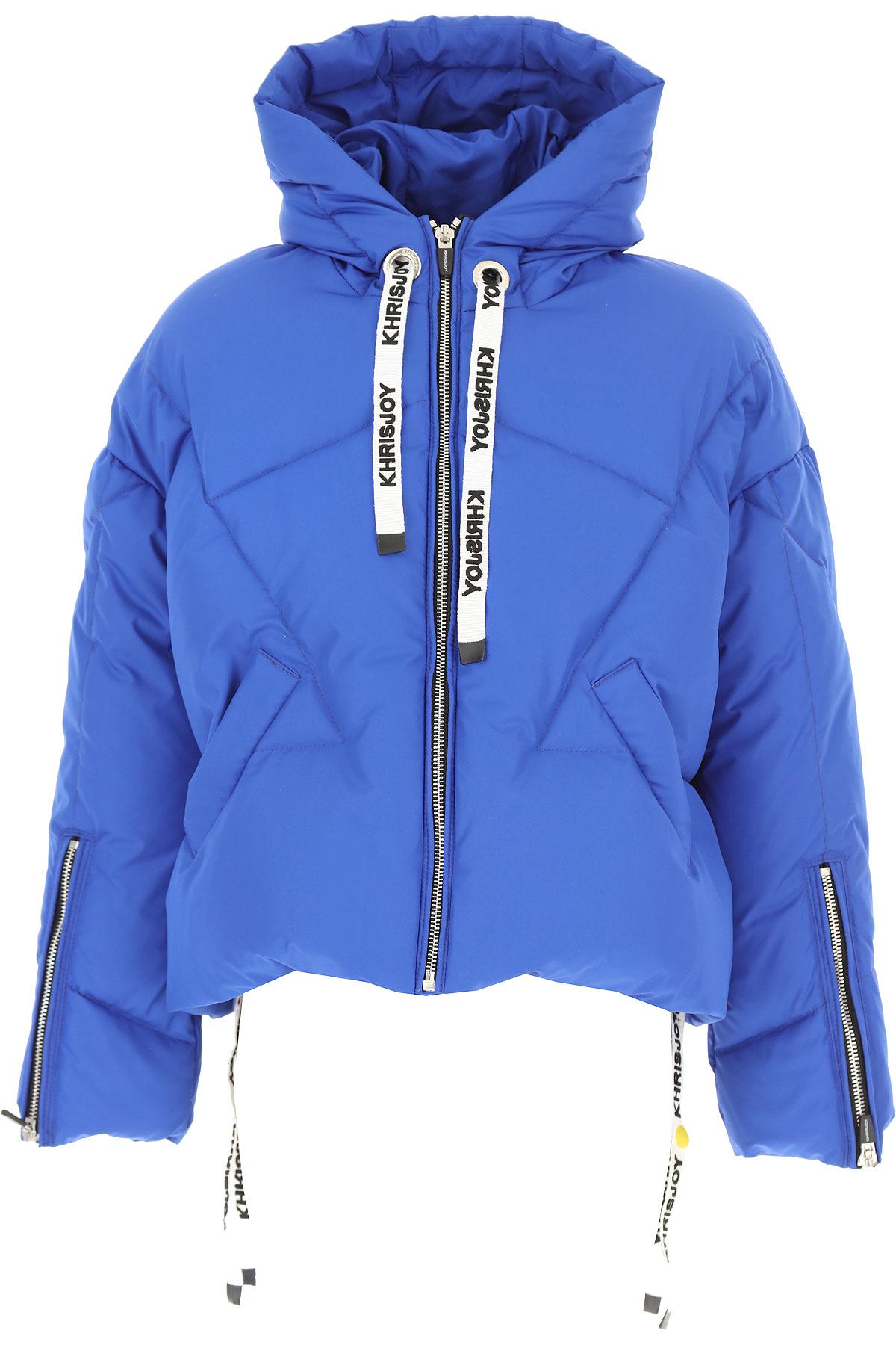 Khrisjoy Girls Down Jacket for Kids, Puffer Ski Jacket On Sale, Royal, polyamide, 2019, 4Y 6Y