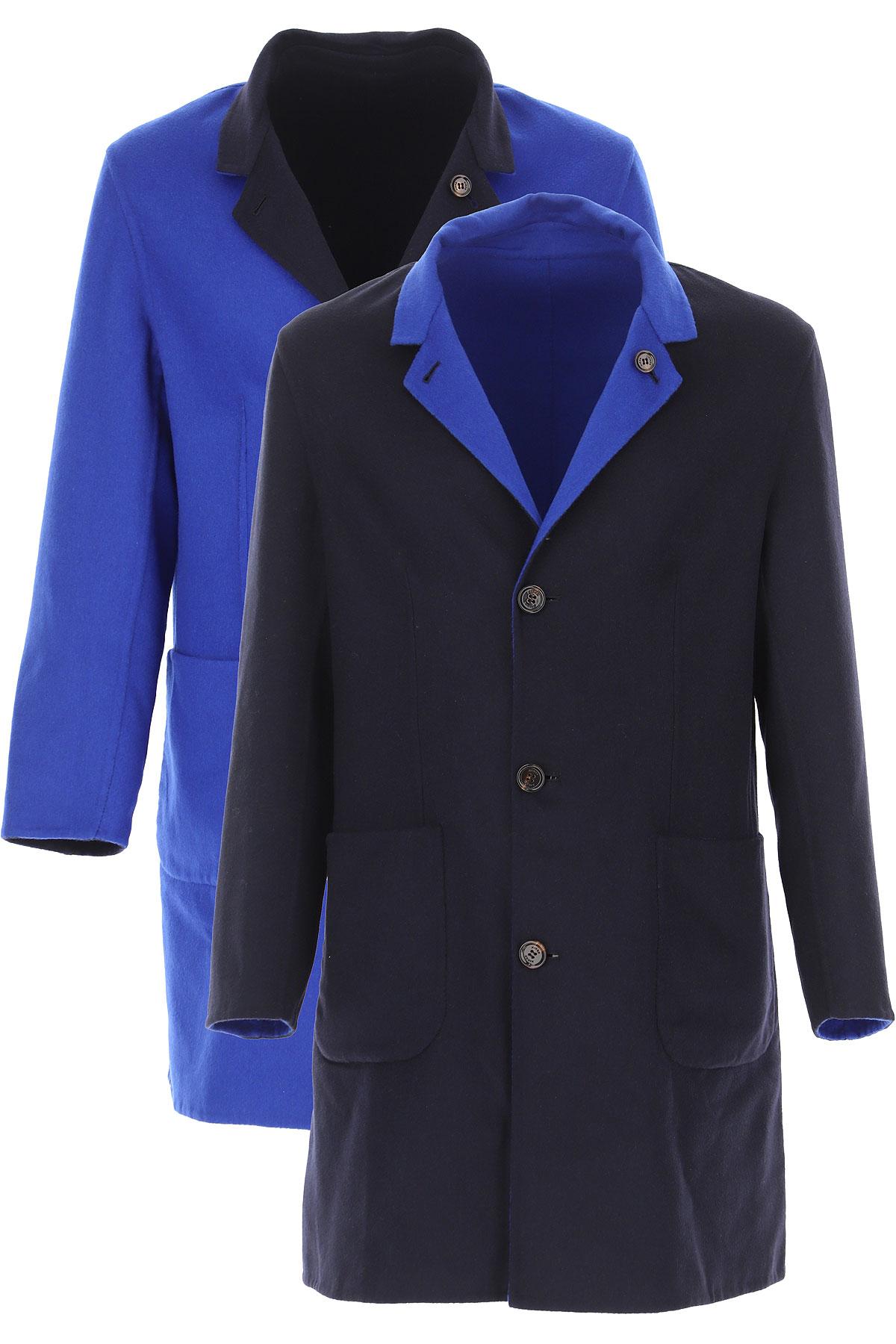 Kired Men's Coat On Sale, navy, Cashemere, 2019, L M XL