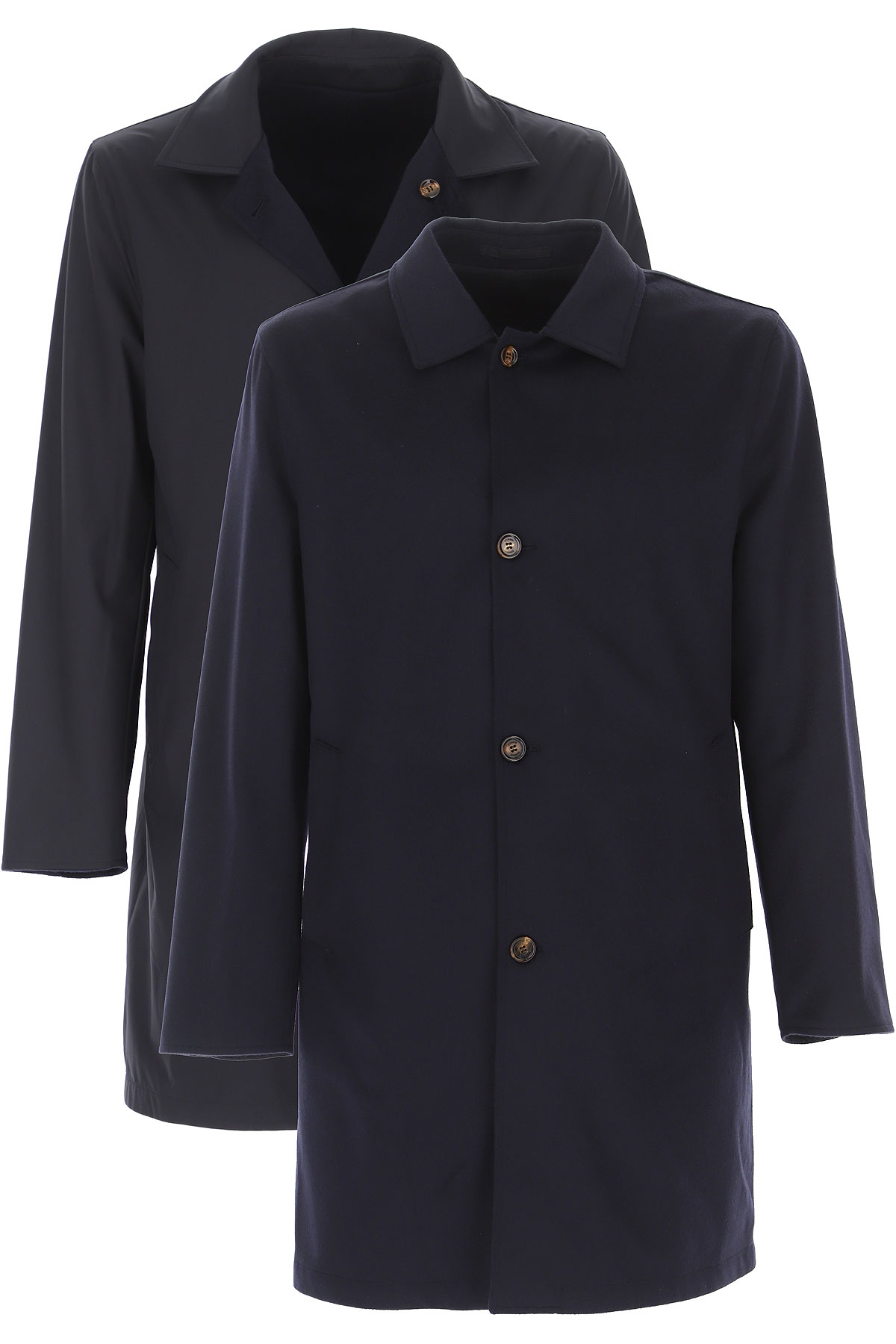 Kired Men's Coat On Sale, navy, Cashemere, 2019, M XL XXL