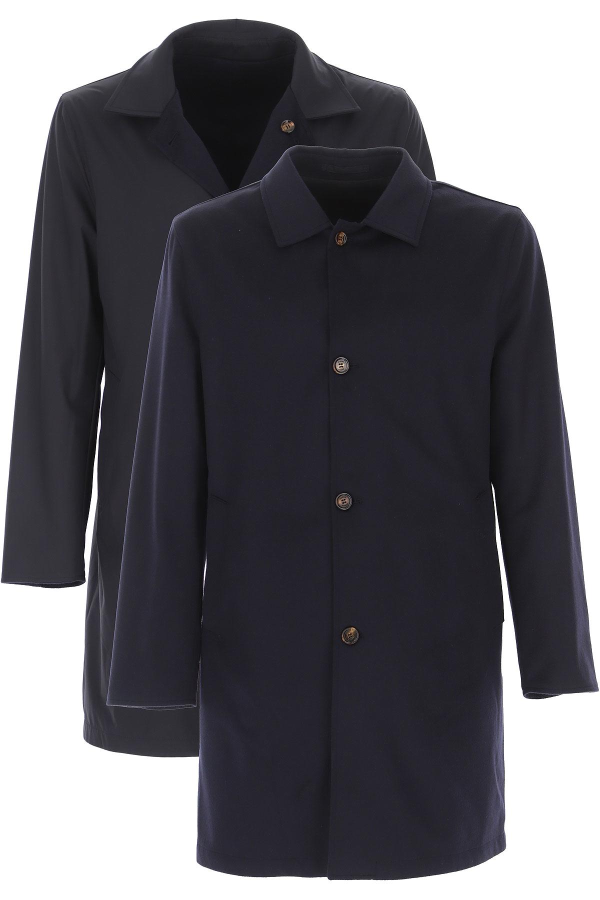 Kired Men's Coat On Sale, navy, Cashemere, 2019, M XXL
