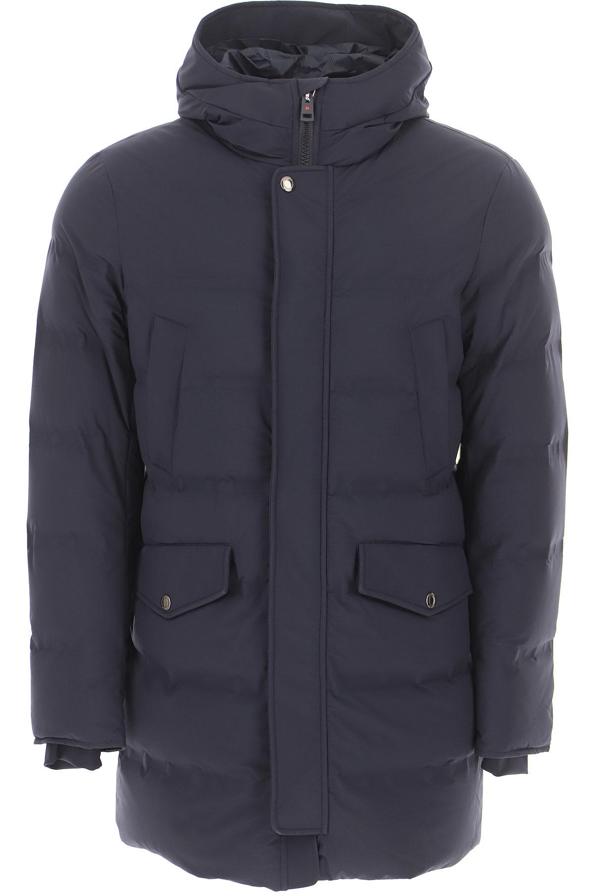 Kired Down Jacket for Men, Puffer Ski Jacket On Sale, navy, polyamide, 2019, L M