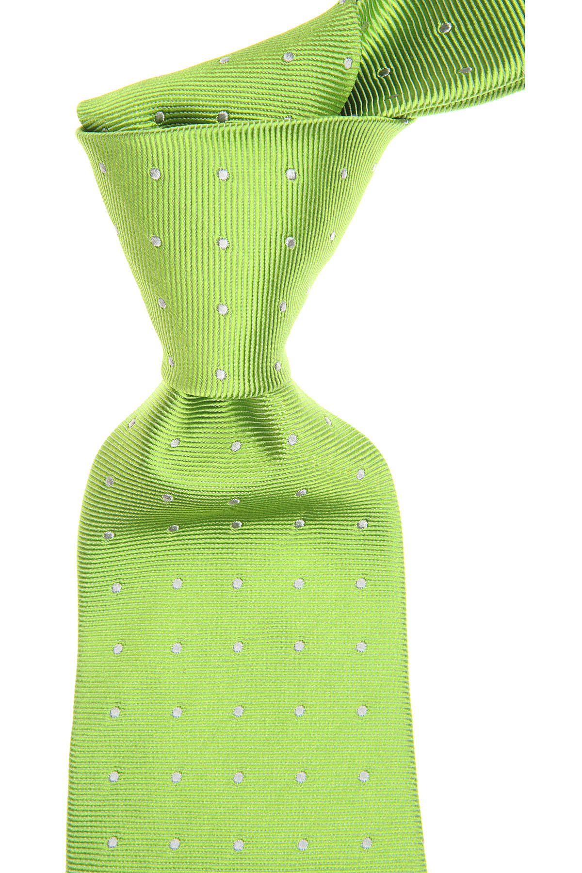 Kiton Ties On Sale, Acid Green, Silk, 2019
