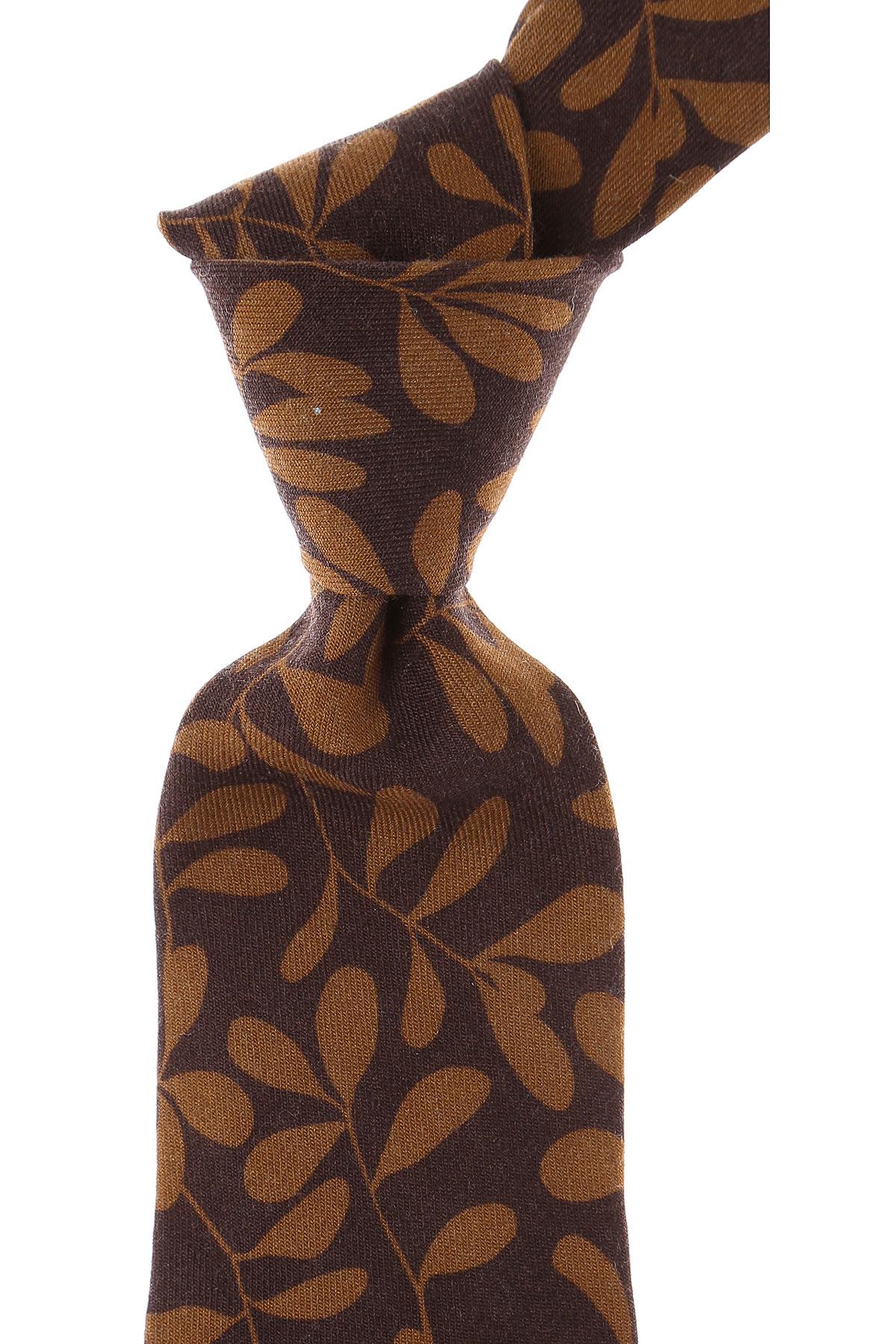 Kiton Cravates Pas cher en Soldes, Marron Chocolat, Laine, 2019