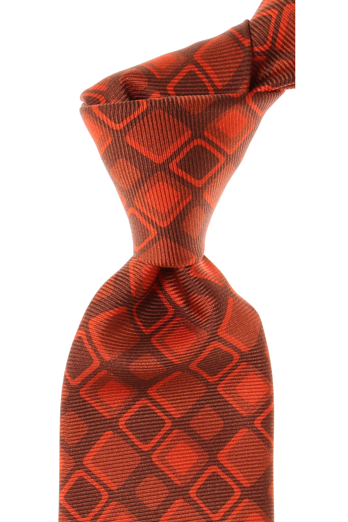 Image of Kiton Ties On Sale, Bright Orange, Silk, 2017