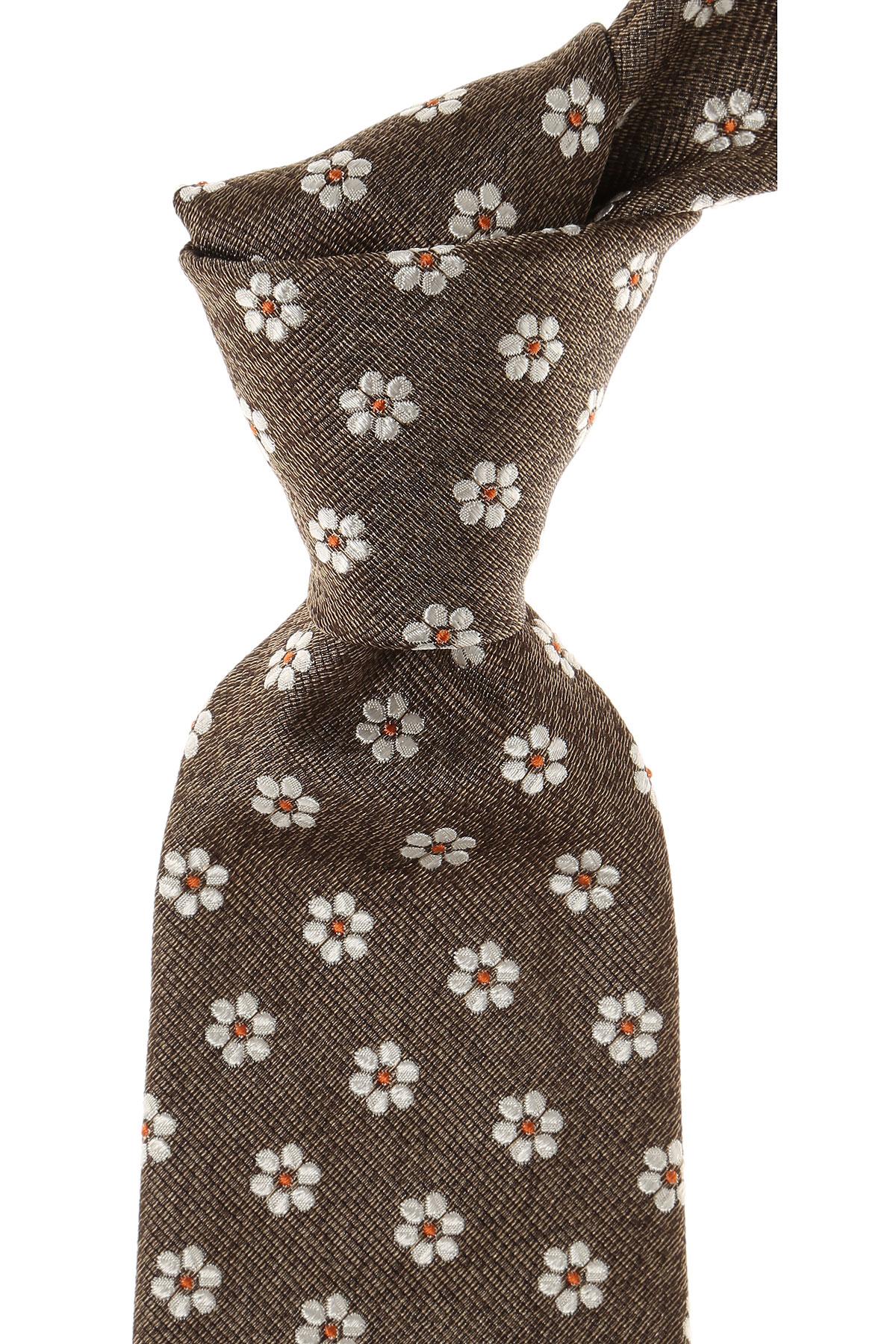 Image of Kiton Ties On Sale, Brown Melange, Silk, 2017