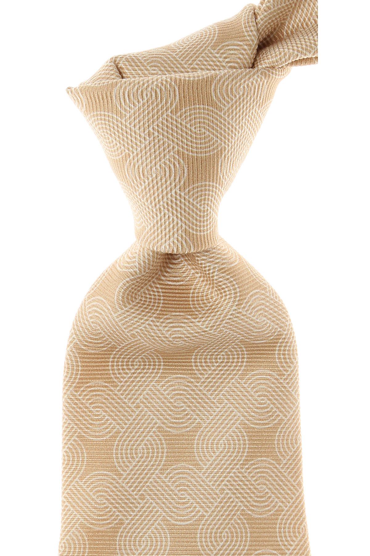 Image of Kiton Ties On Sale, Brown Sugar, Silk, 2017