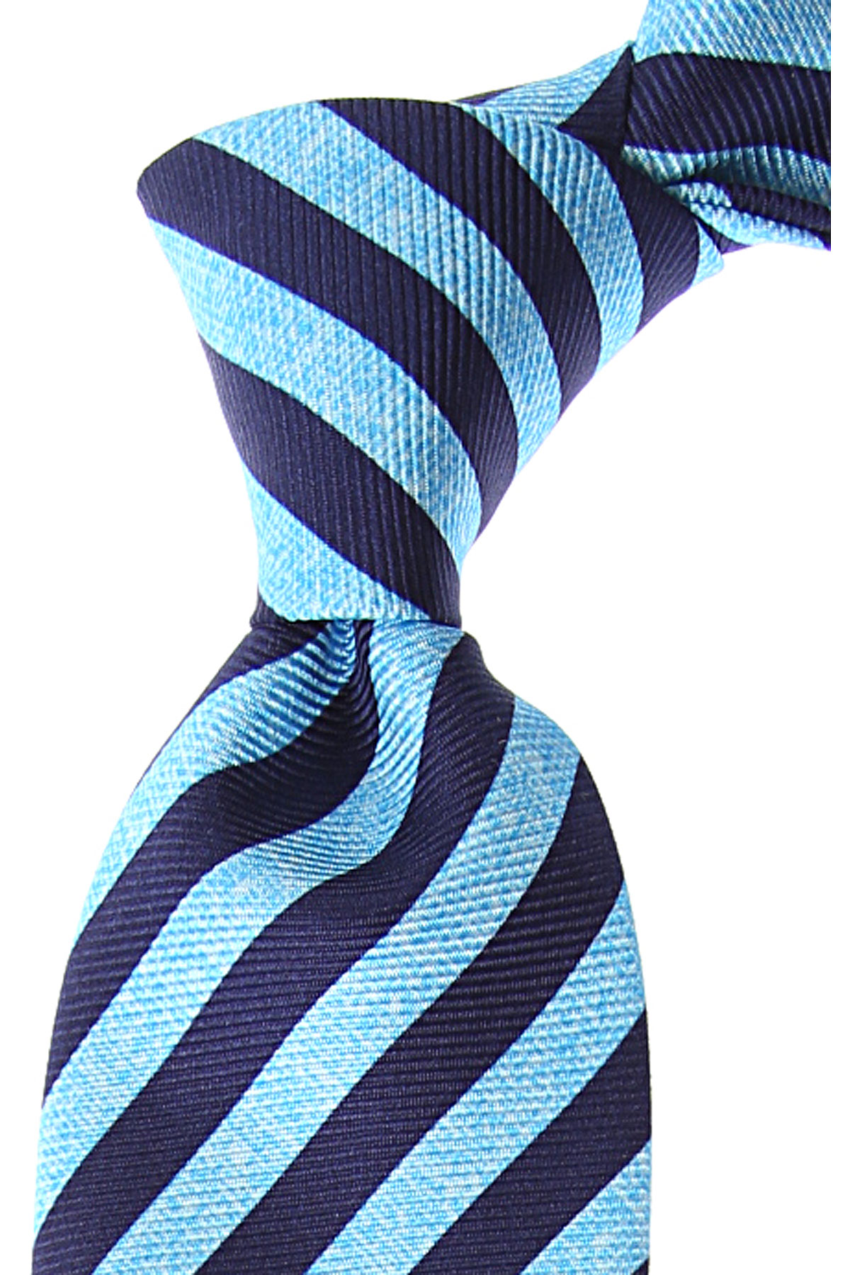 Kiton Ties On Sale, Azure Melange, Silk, 2019