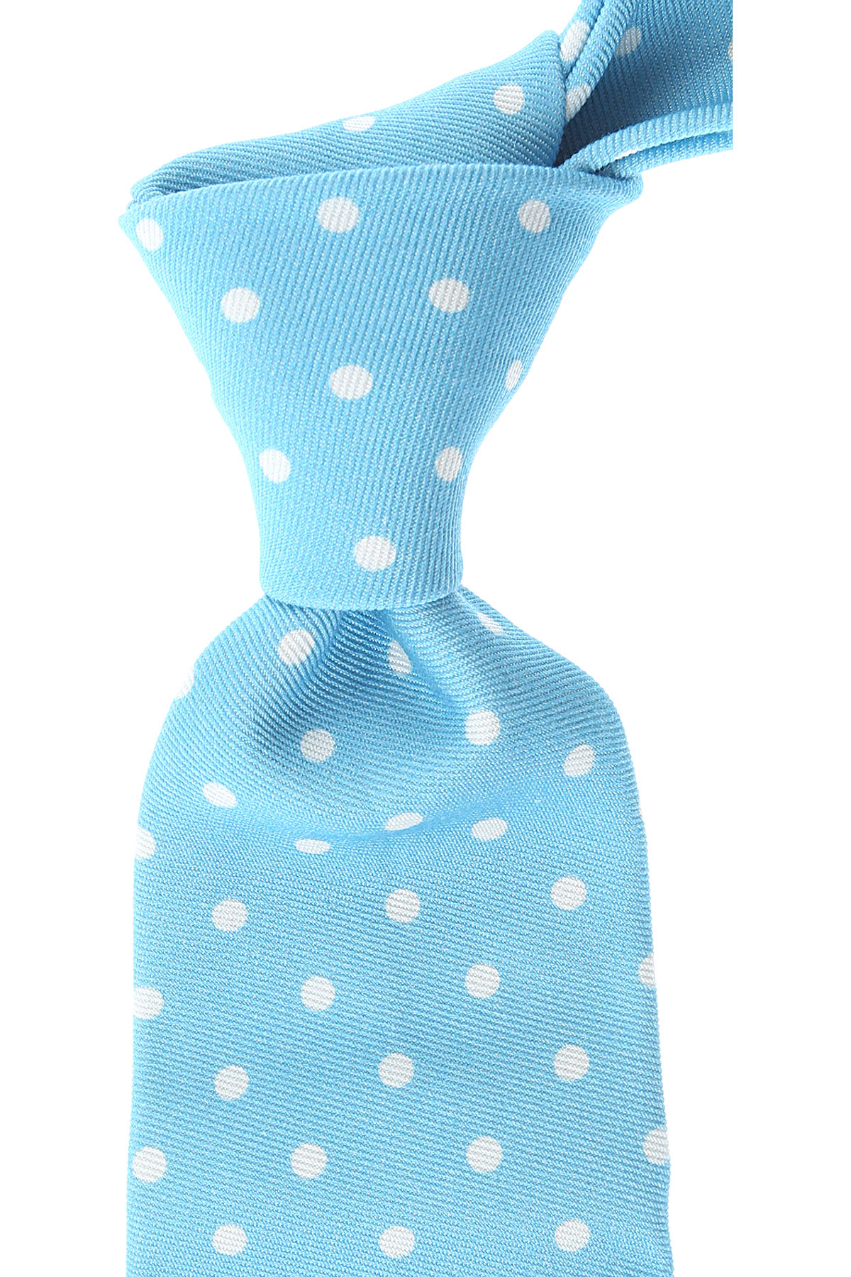 Kiton Ties On Sale, Azure, Cotton, 2019