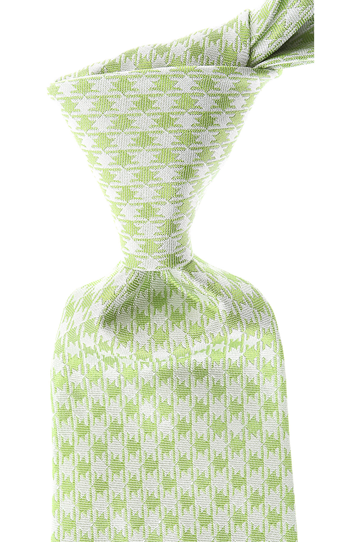 Kiton Ties On Sale, Apple Green, Silk, 2019