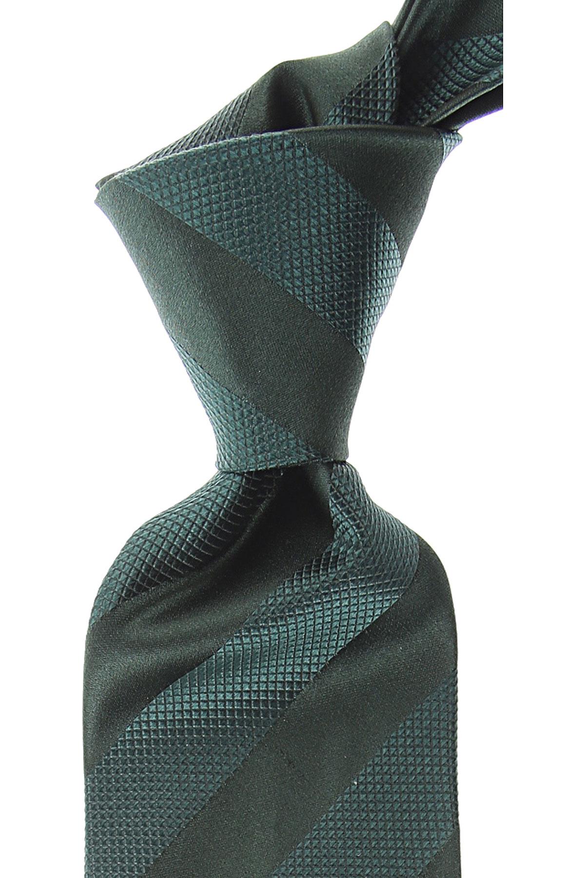Kiton Cravates Pas cher en Soldes, Vert, Soie, 2021
