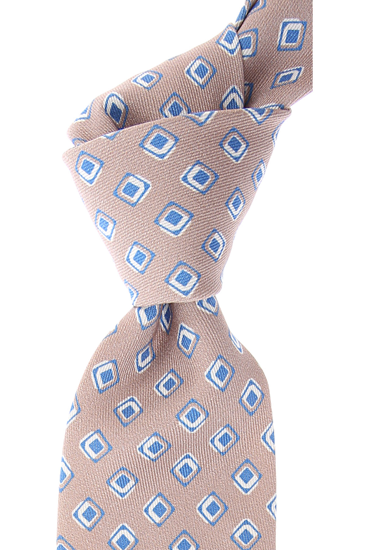 Kiton Ties On Sale, Beige, Silk, 2019