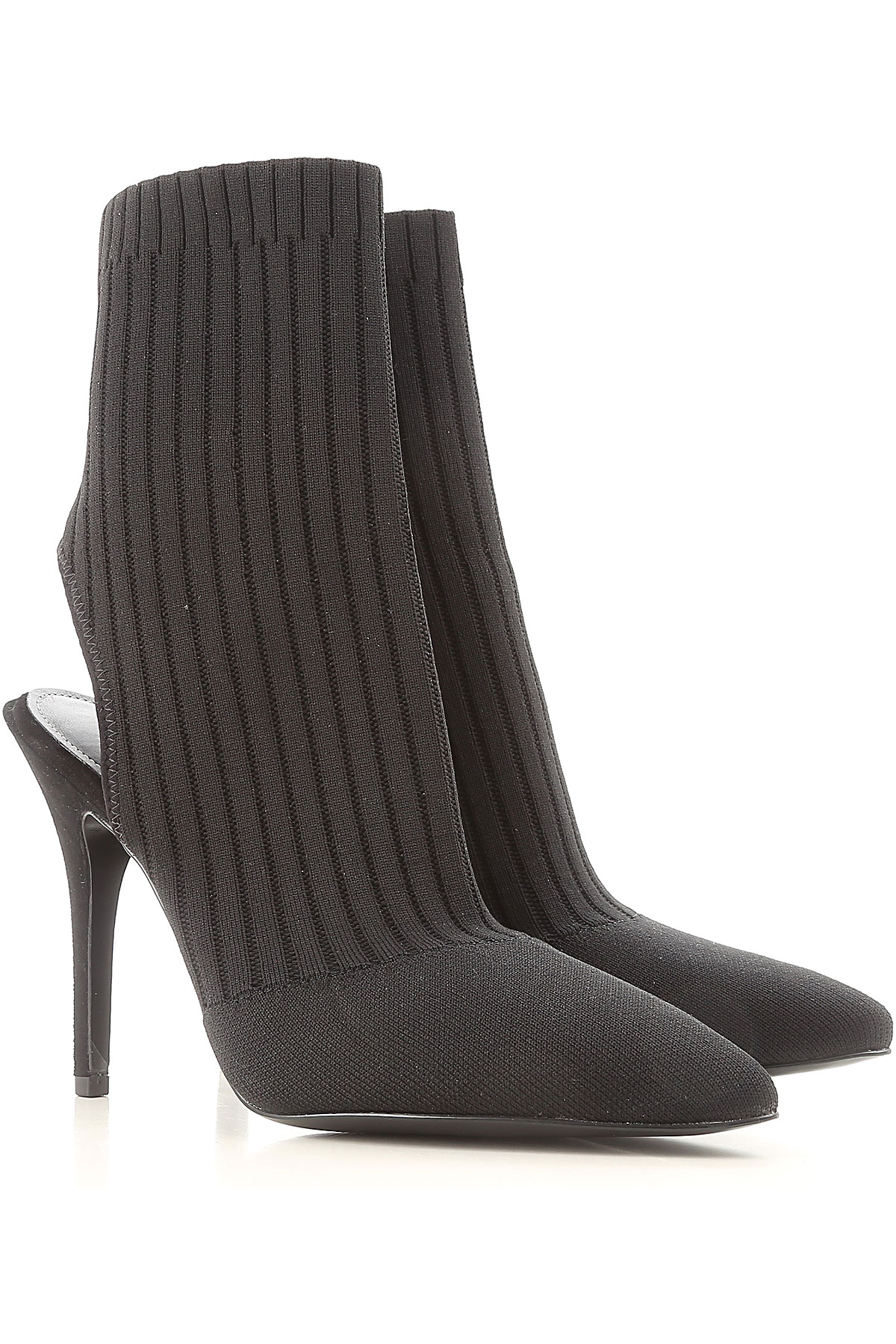 Kendall Kylie Pumps & High Heels for Women On Sale in Outlet, Black, Fabric, 2019, 5.5 6 6.5