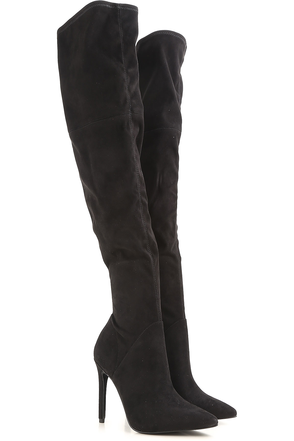 Image of Kendall Kylie Boots for Women, Booties On Sale in Outlet, Black, Suede leather, 2017, 5.5 6 9