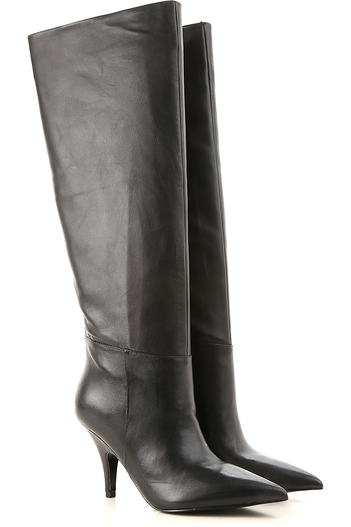 Kendall Kylie Boots For Women, Booties On Sale In Outlet, Black, Leather, 2021, 4.5