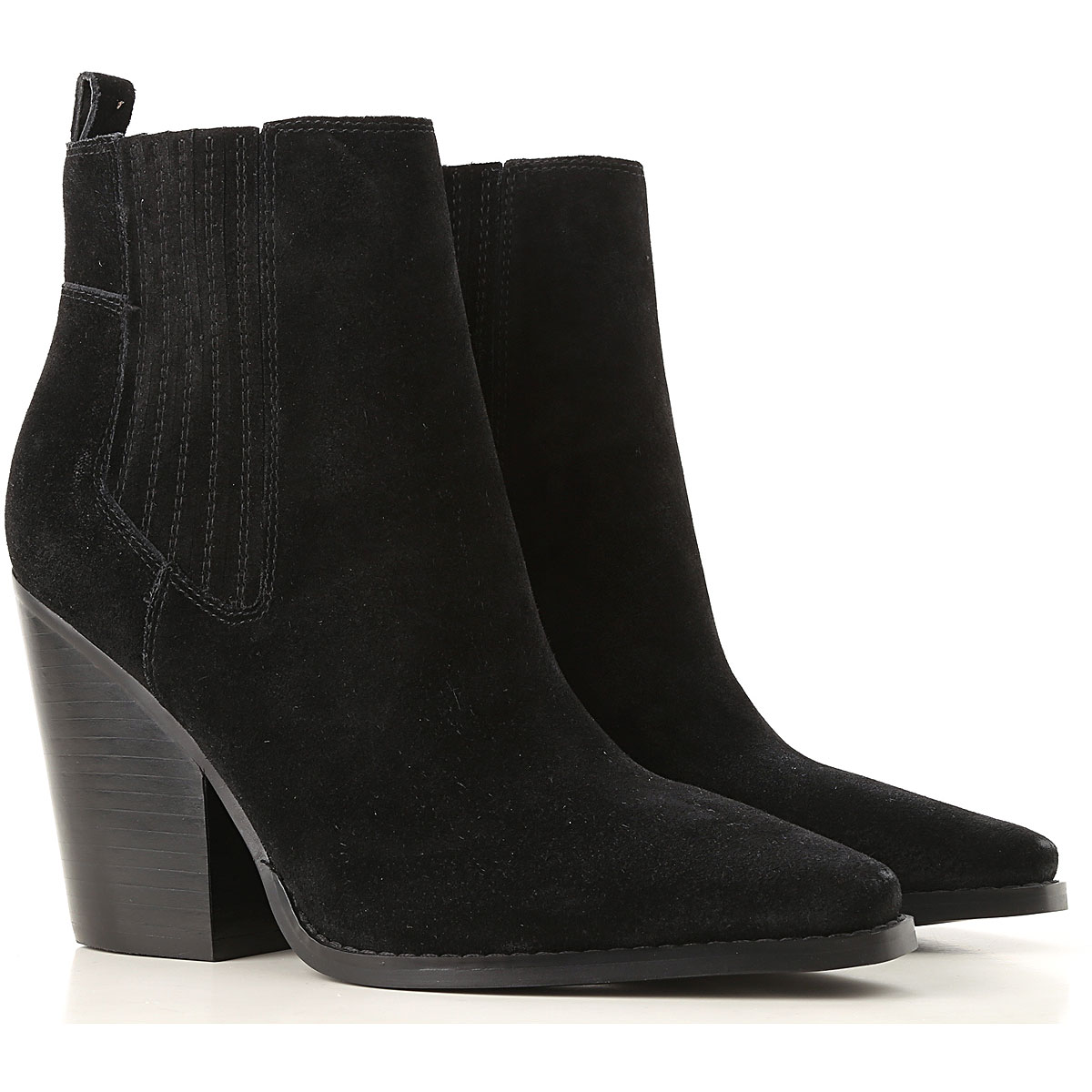 Image of Kendall Kylie Boots for Women, Booties, Black, Suede leather, 2017, 10 6.5 8 9.5