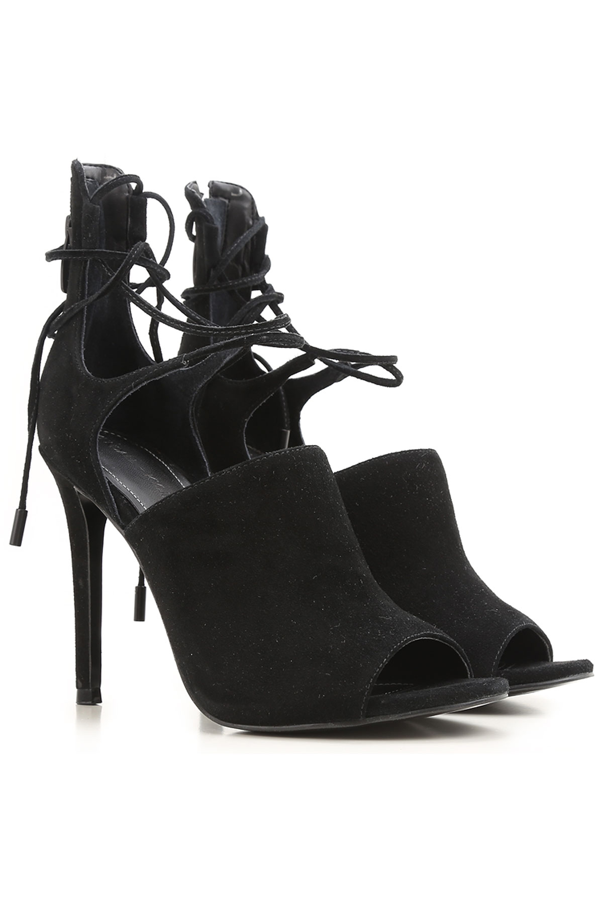 Kendall Kylie Sandals for Women On Sale in Outlet, Black, Suede leather, 2019, 5.5 8.5
