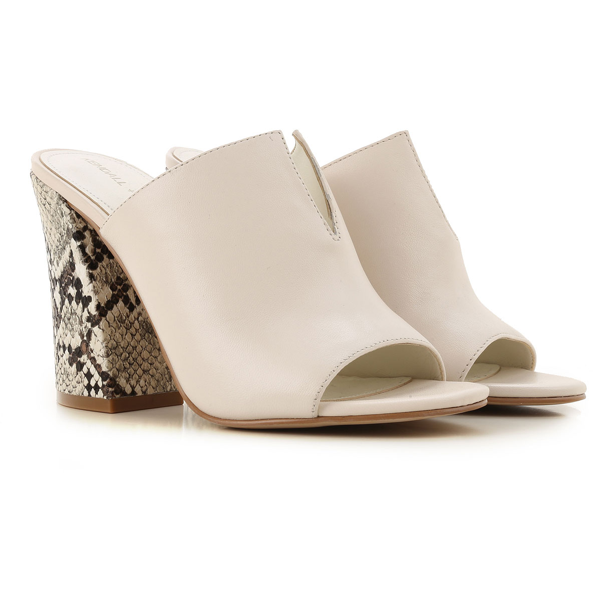 Kendall Kylie Pumps & High Heels for Women On Sale in Outlet, Cream, Leather, 2019, 6 9
