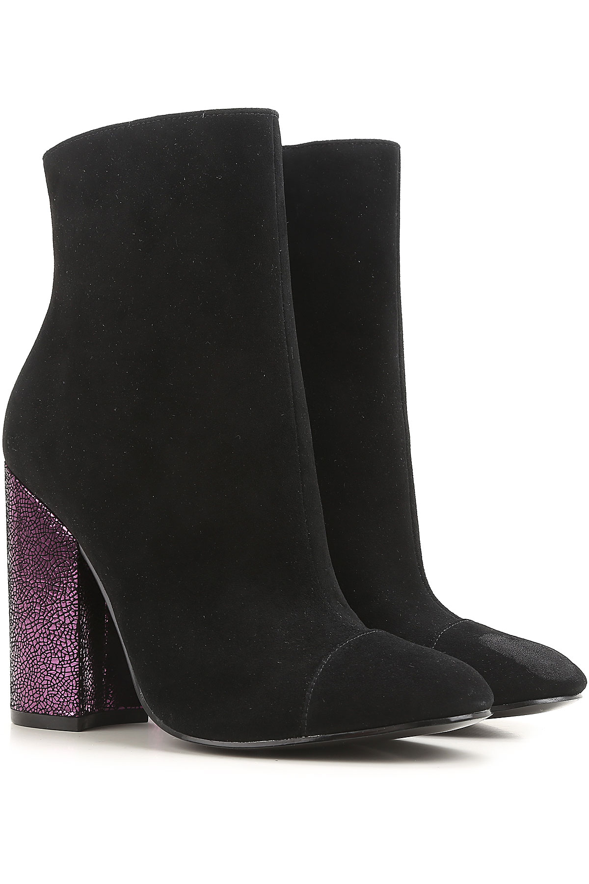 Kendall Kylie Boots for Women, Booties On Sale in Outlet, Black, Suede leather, 2019, 5.5 6 7 8