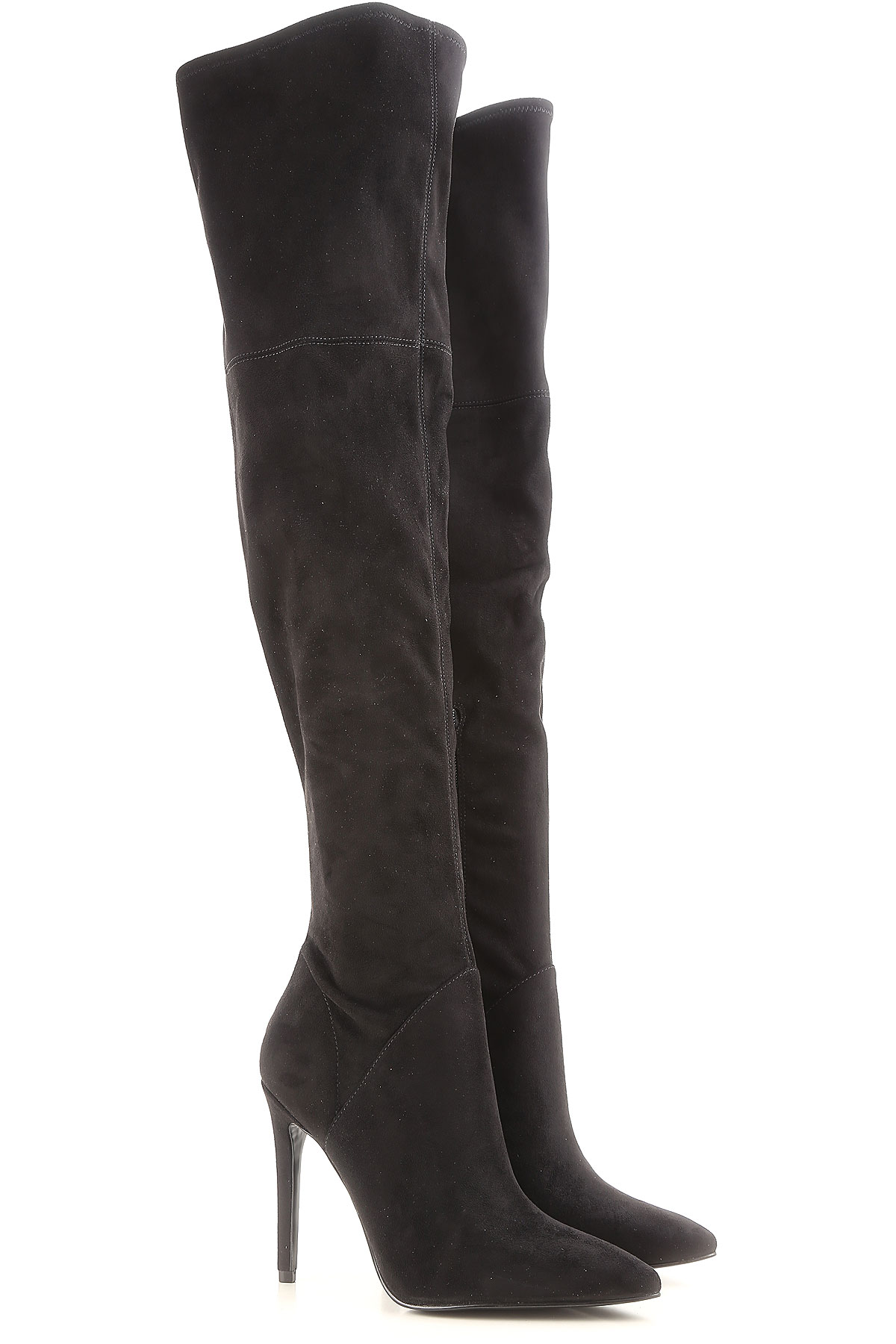 Image of Kendall Kylie Boots for Women, Booties On Sale in Outlet, Black, Suede leather, 2017, 5.5 9 9.5