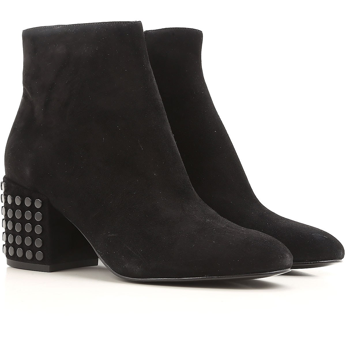 Kendall Kylie Boots for Women, Booties On Sale in Outlet, Black, suede, 2019, 6 7