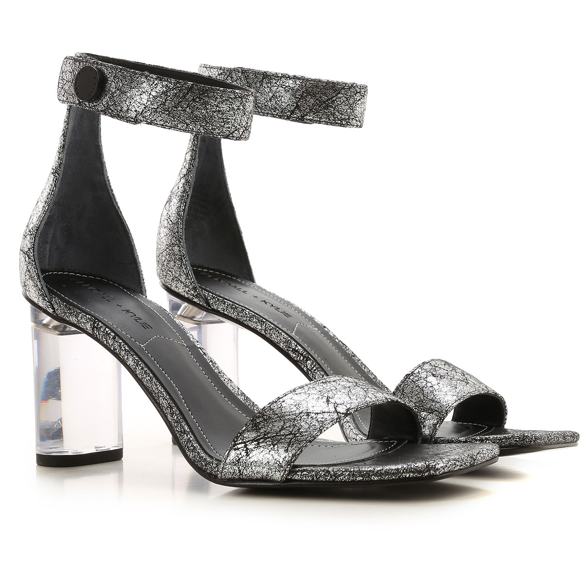 Kendall Kylie Sandals for Women On Sale in Outlet, Silver, Synthetic Fiber, 2019, 6 6.5 8.5 9