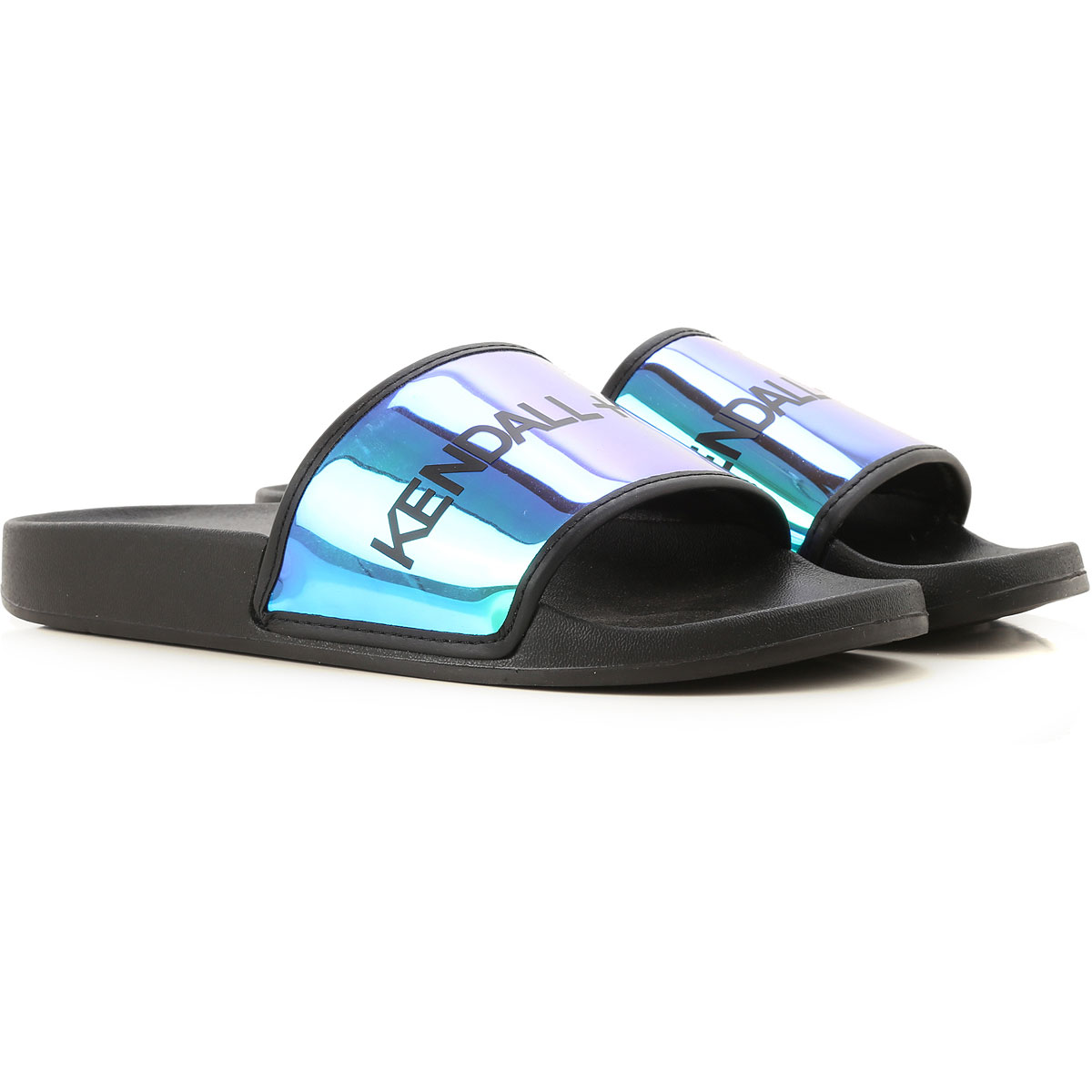 Kendall Kylie Sandals for Women On Sale in Outlet, Black, Rubber, 2019, 11 5 6.5