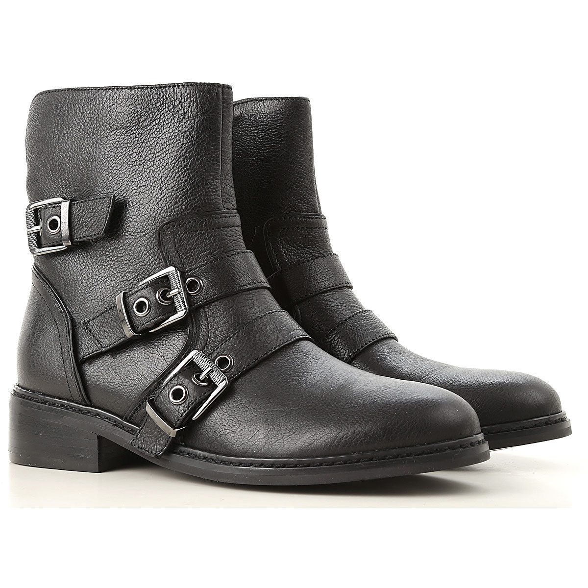 Kendall Kylie Boots for Women, Booties On Sale in Outlet, Black, Leather, 2019, 5.5 6 6.5 7