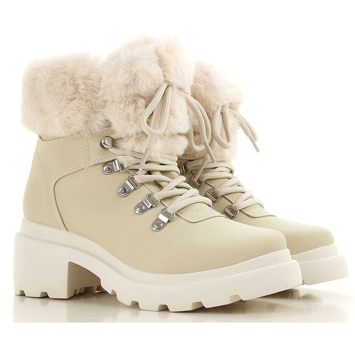 Kendall Kylie Boots for Women, Booties On Sale, Ivory, Fabric, 2019, 8 9