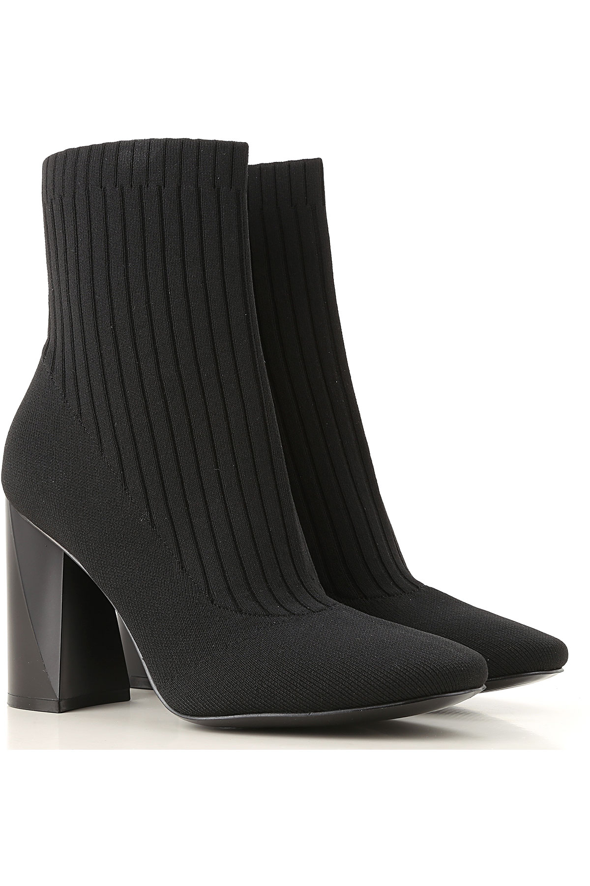 Image of Kendall Kylie Boots for Women, Booties, Black, Fabric, 2017, 10 6.5 7 8 9 9.5