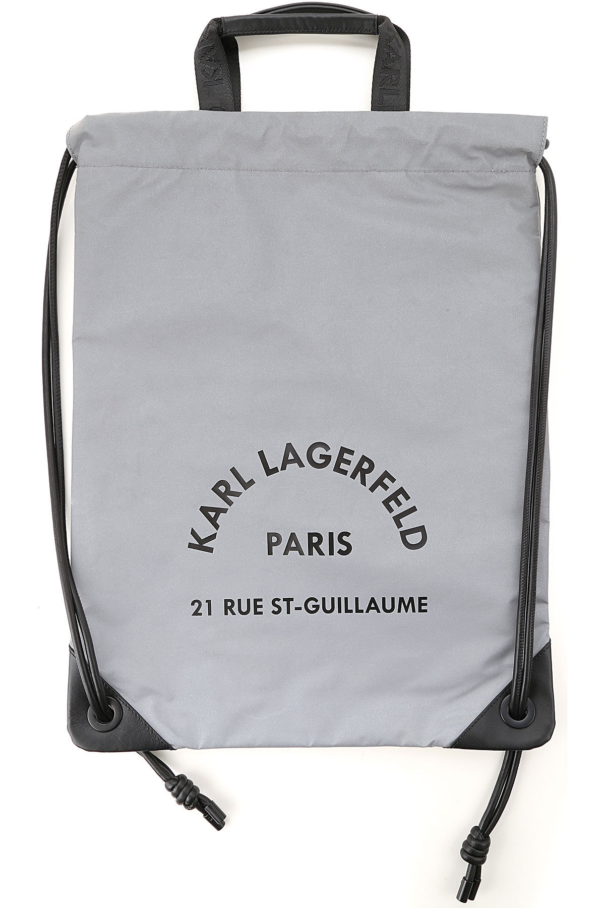 Karl Lagerfeld Backpack for Women On Sale, reflective grey, polyamide, 2019