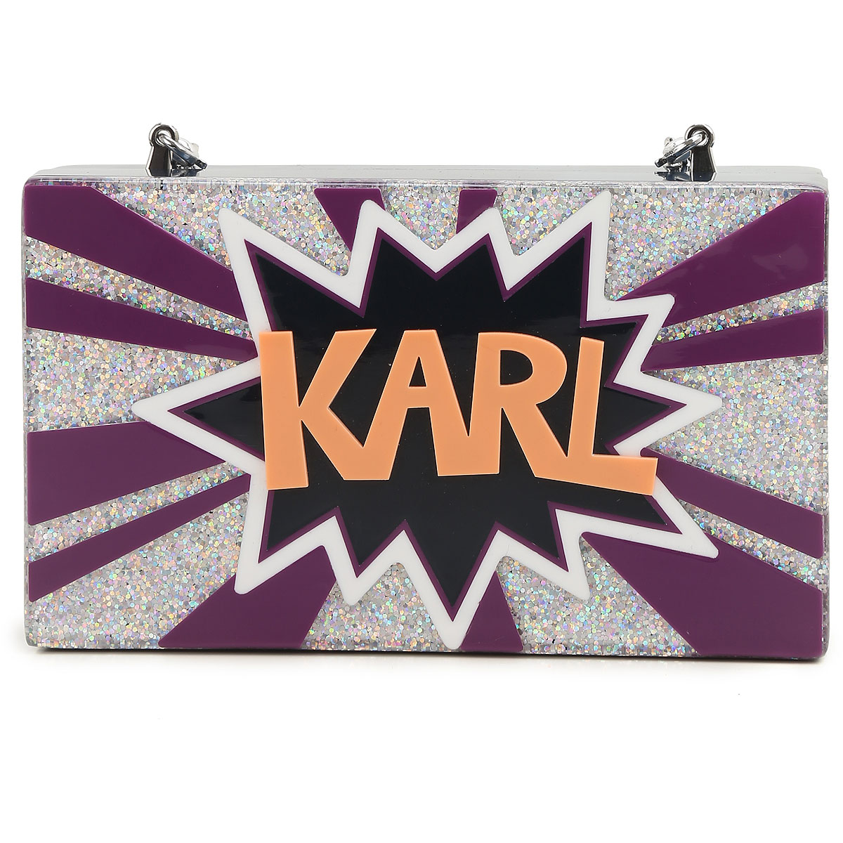 Karl Lagerfeld Clutch Bag On Sale, Multicolor, Acrylic, 2019
