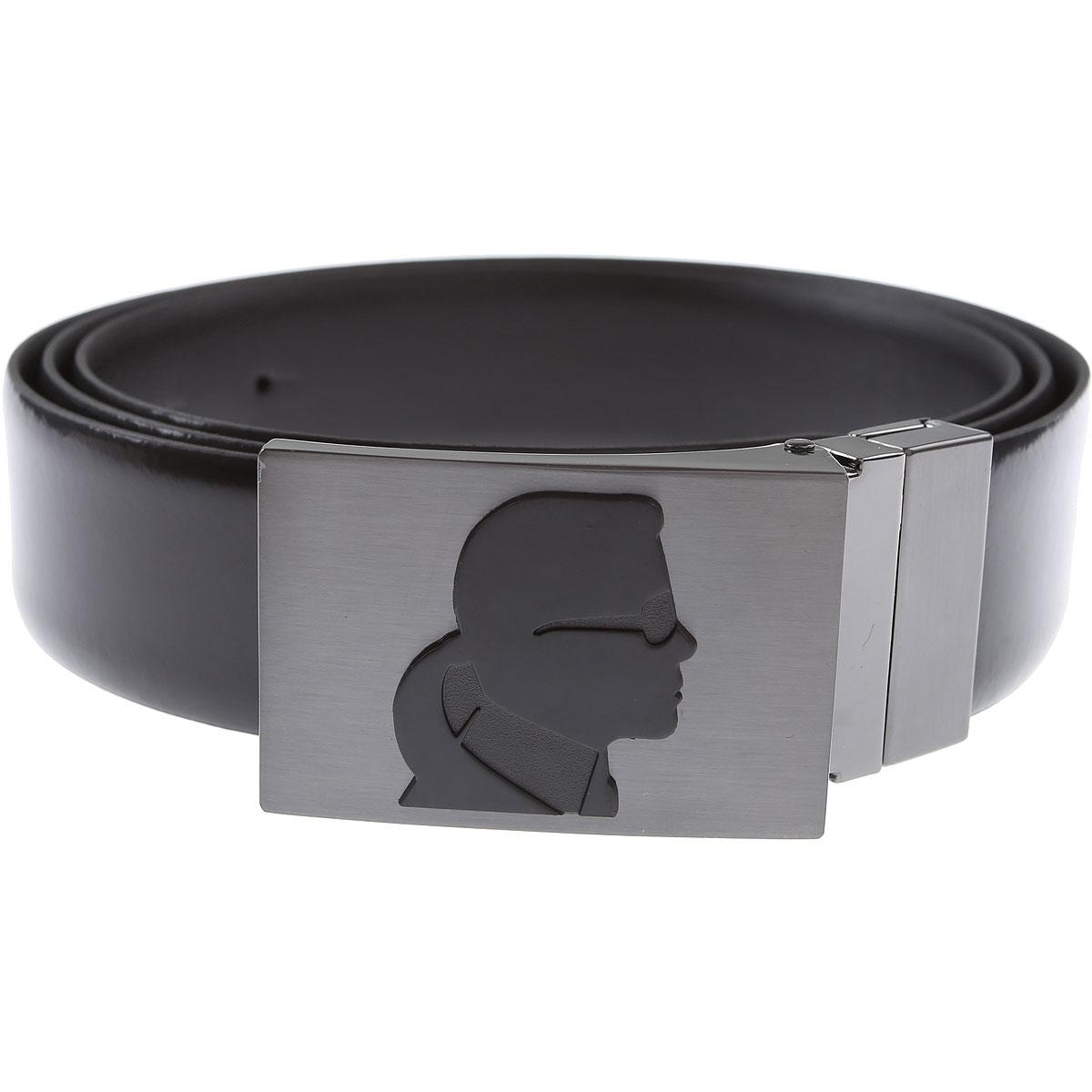 Karl Lagerfeld Belts On Sale, Black, Leather, 2019