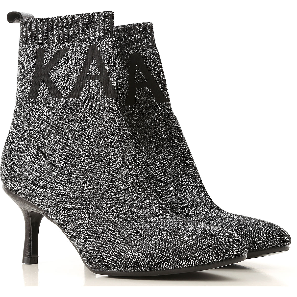 Karl Lagerfeld Boots for Women, Booties On Sale, Black, lurex, 2019, UK 4 - EU 37 - US 7 UK 5 - EU 38 - US 8 UK 8 - EU 41 - US 11 UK 6 - EU 39 UK 7 -