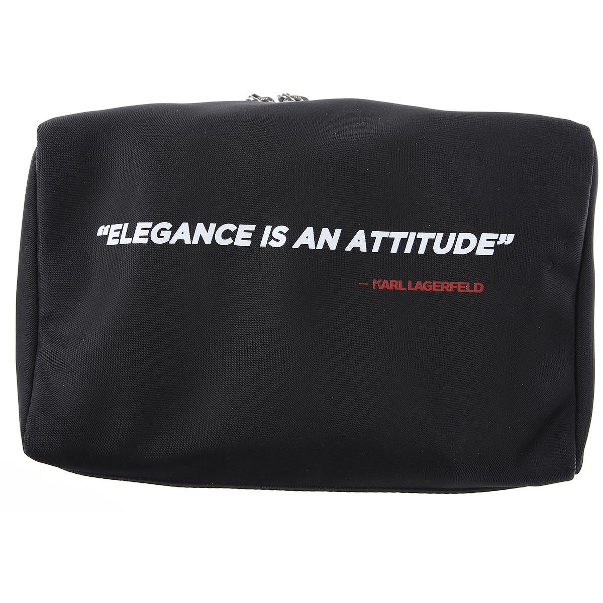 Karl Lagerfeld Toiletry Bag for Men On Sale, Black, polyamide, 2019