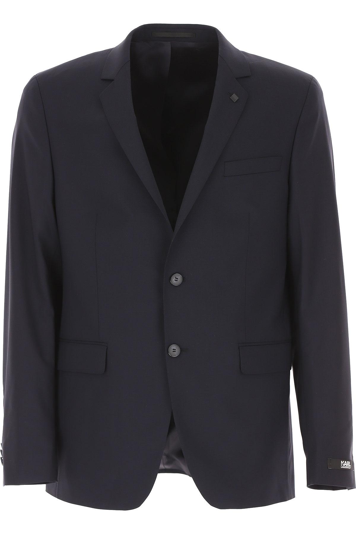 Karl Lagerfeld Blazer for Men, Sport Coat On Sale, Dark Navy Blue, Wool, 2019, 32 34 36 38
