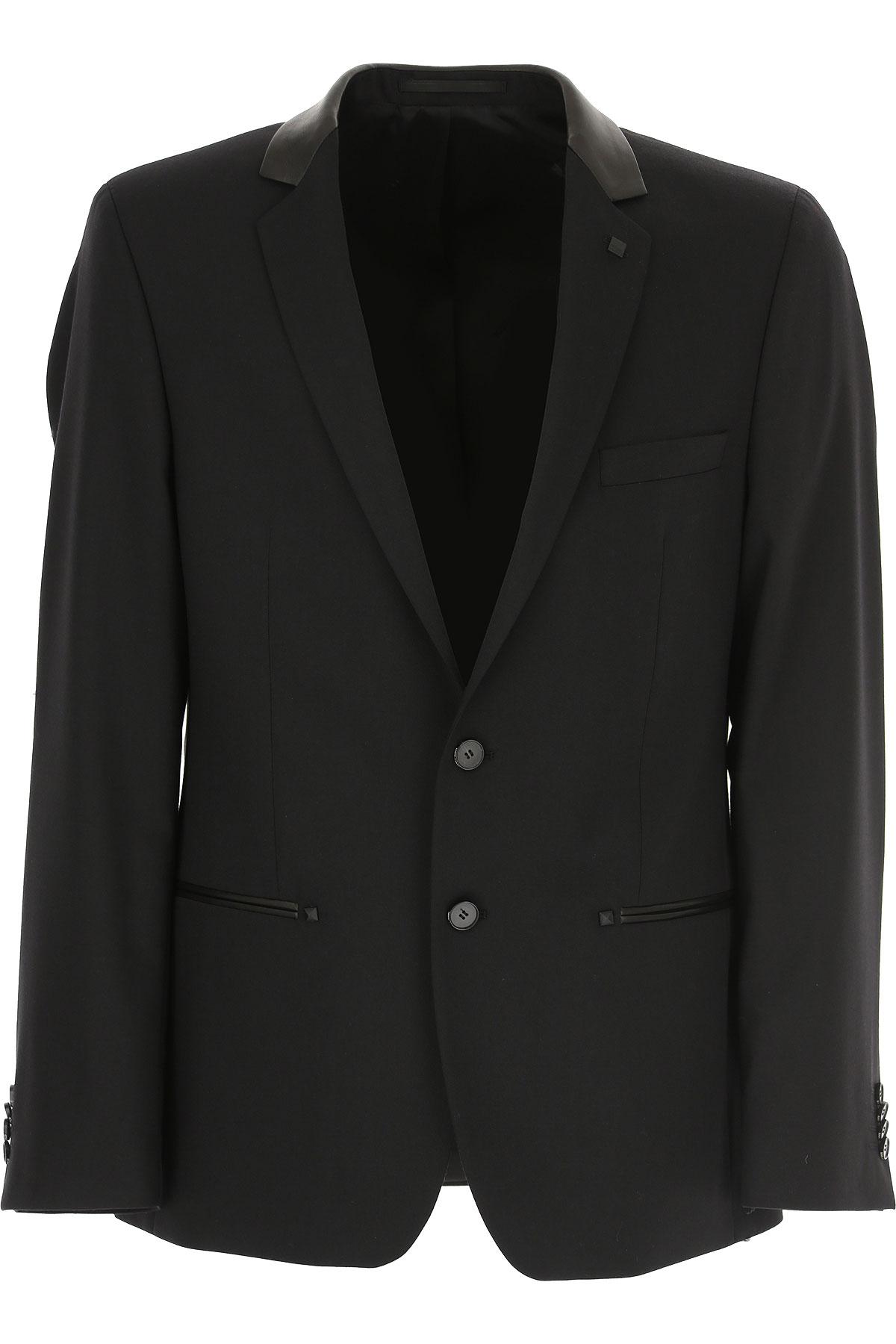 Karl Lagerfeld Blazer for Men, Sport Coat On Sale, Black, Wool, 2019, L M XL XXL