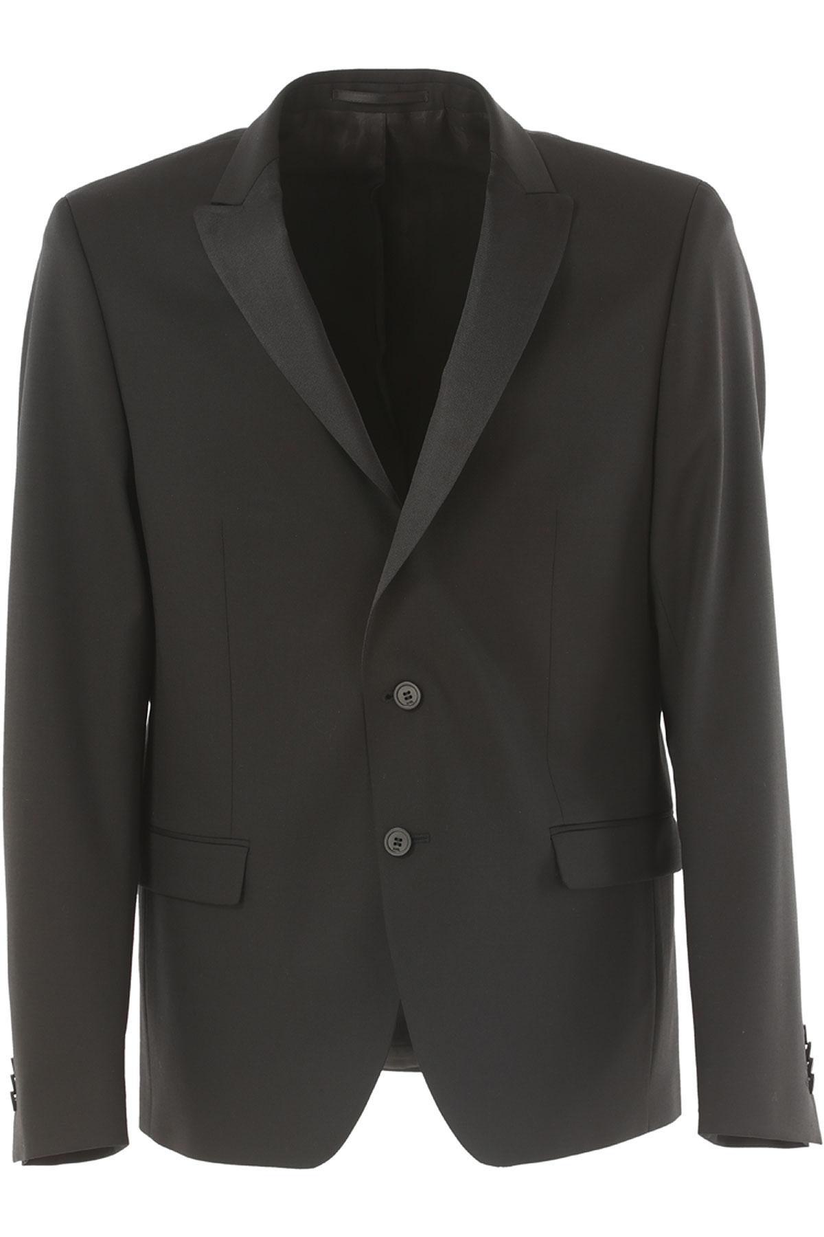 Image of Karl Lagerfeld Blazer for Men, Sport Coat On Sale, Black, Wool, 2017, L M