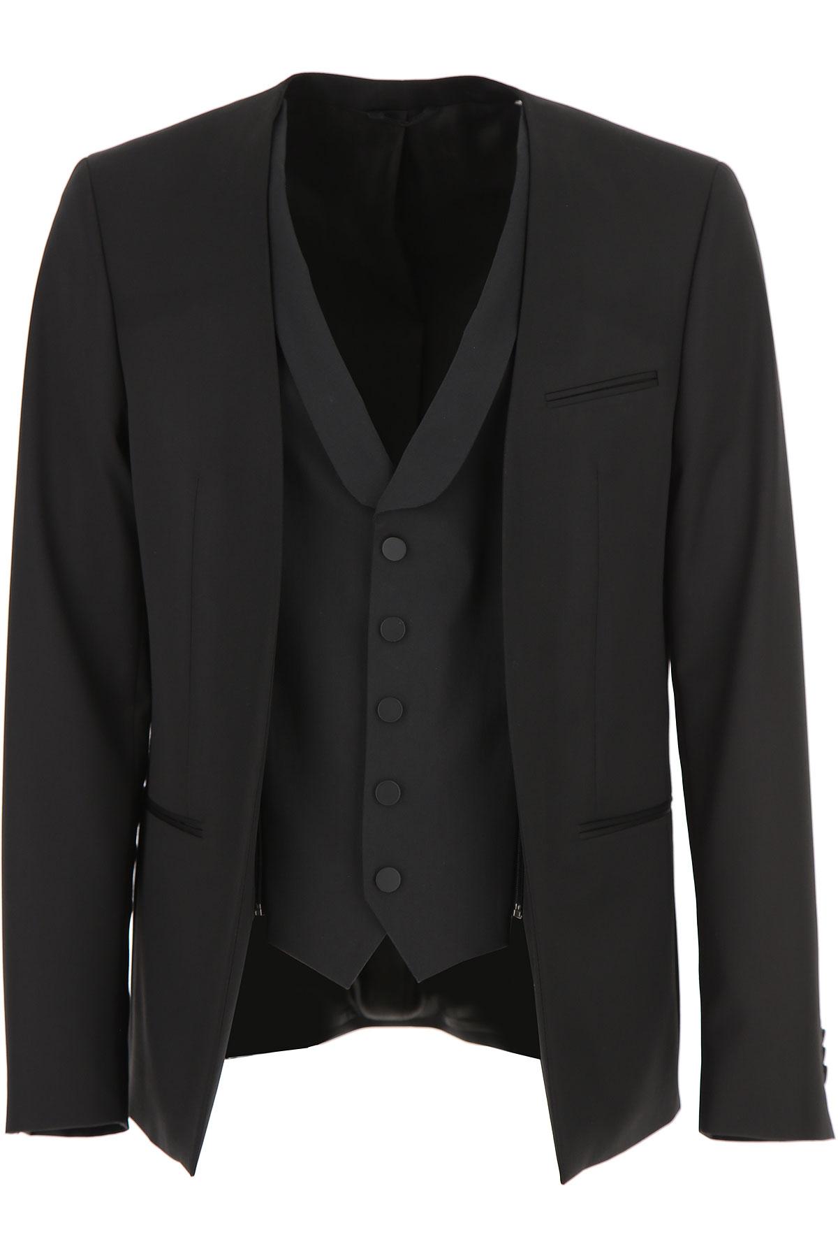 Image of Karl Lagerfeld Blazer for Men, Sport Coat On Sale, Black, Cotton, 2017, L M XXL