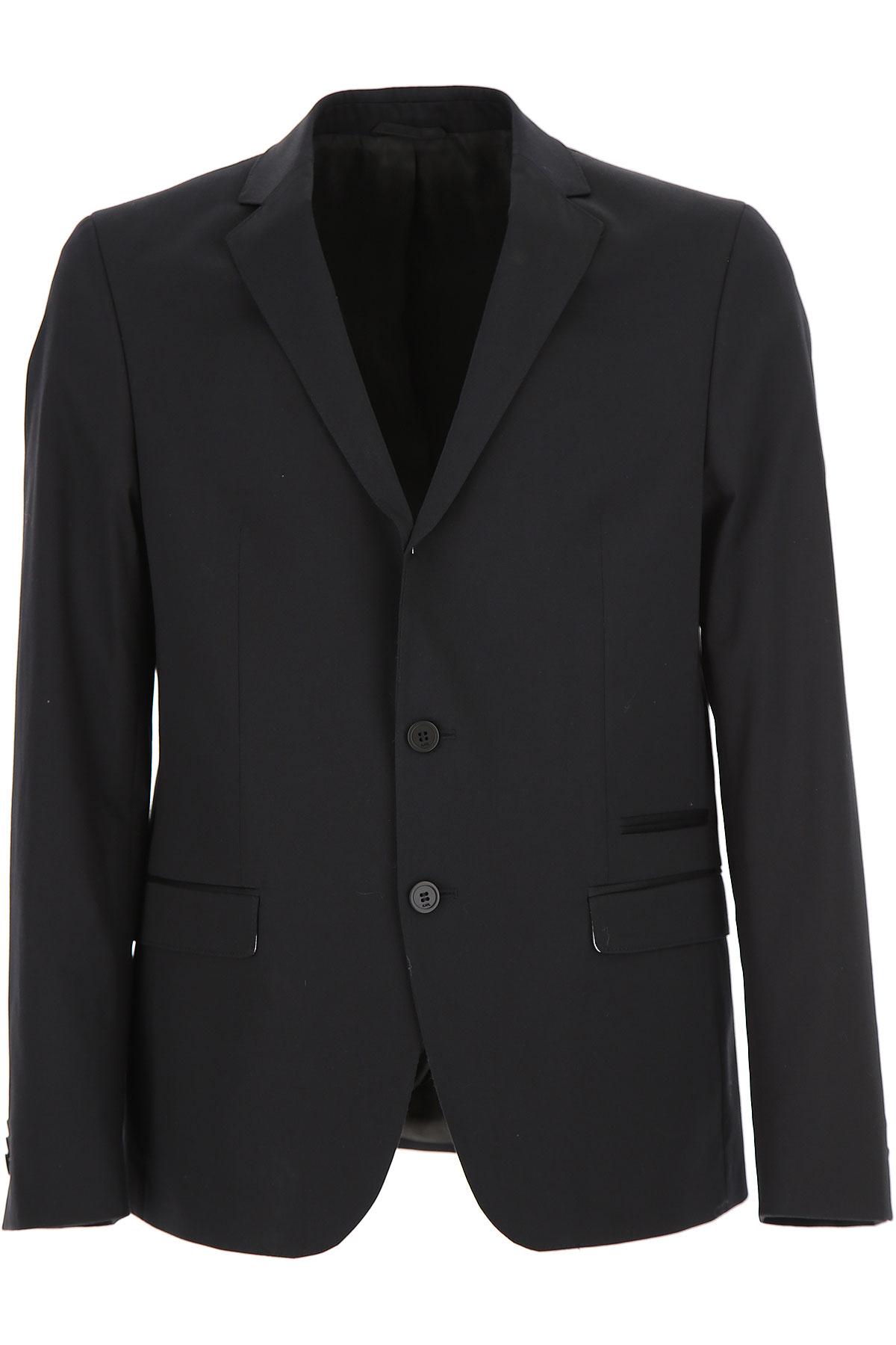 Image of Karl Lagerfeld Blazer for Men, Sport Coat On Sale, Black, Cotton, 2017, L M XL XXL