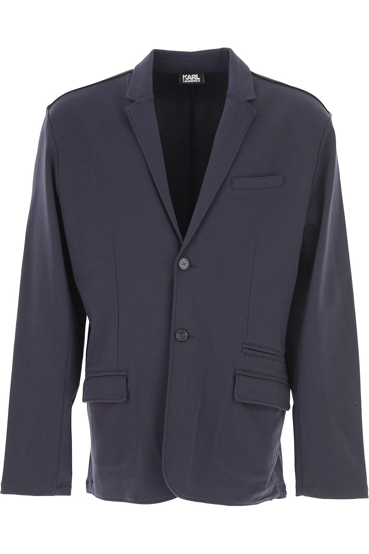 Image of Karl Lagerfeld Blazer for Men, Sport Coat, Dark Blue, Viscose, 2017, L M S XL XXL