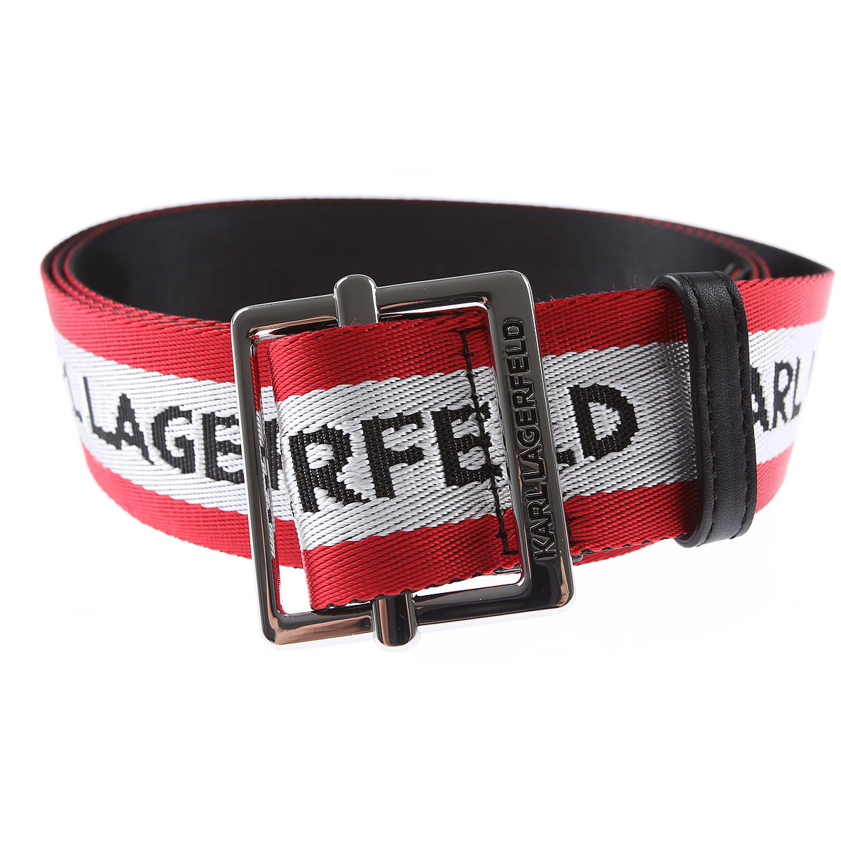 Karl Lagerfeld Belts On Sale, Red, Textile, 2019