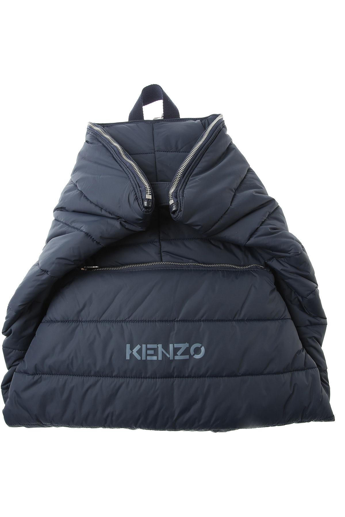 Kenzo Backpack for Men, Blue, Nylon, 2019