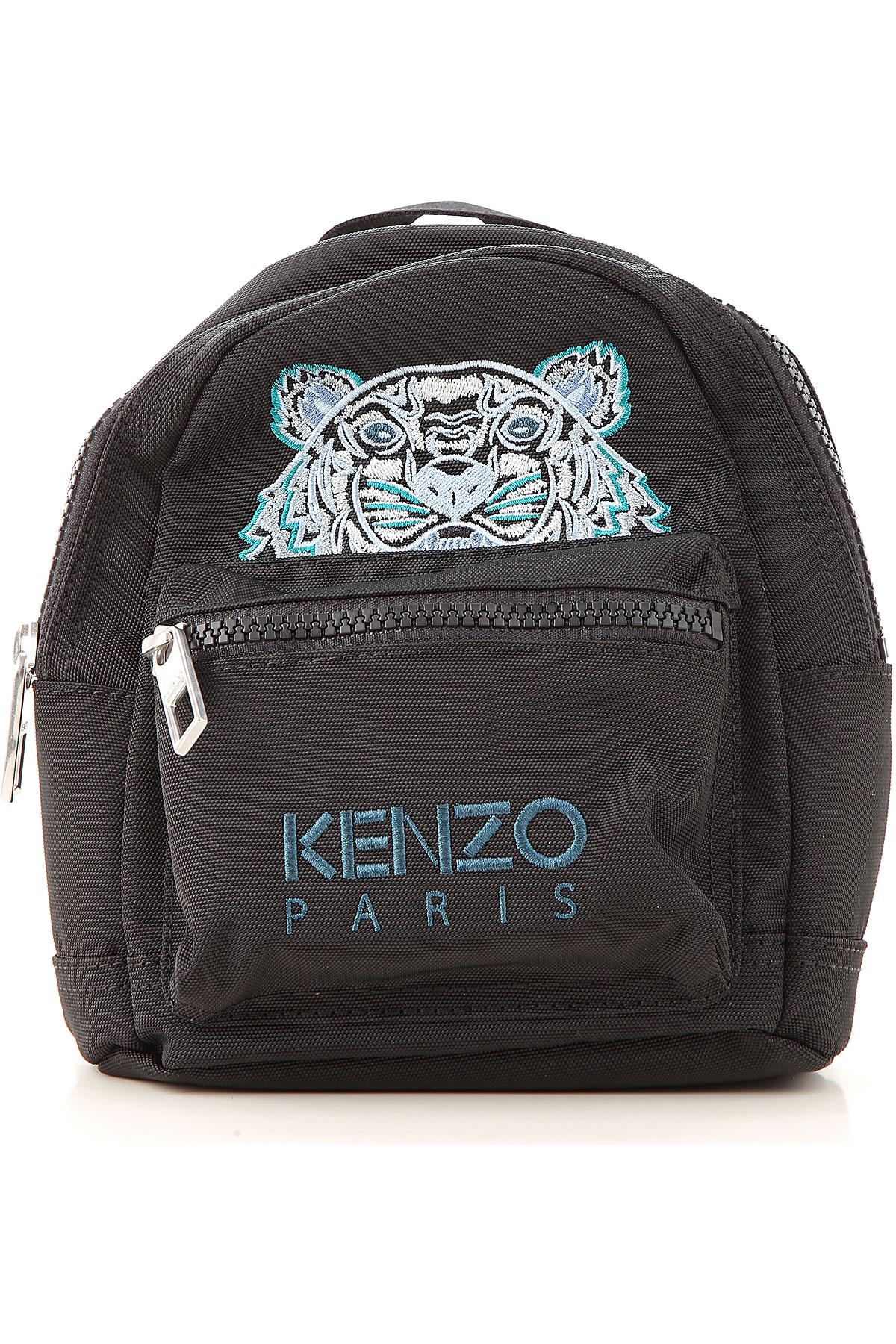 Kenzo Backpack for Men On Sale, Black, polyester, 2019