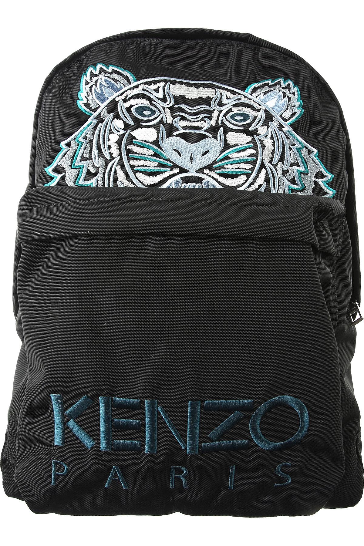 Kenzo Backpack for Men On Sale, Black, Fabric, 2019