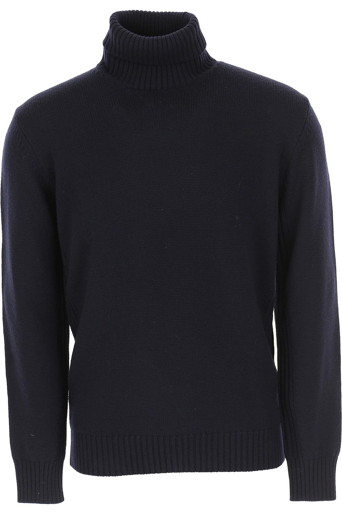 Kangra Sweater for Men Jumper On Sale, Dark Navy Blue, Extrafine Baby Merinos Wool, 2019, L M S XL XXL