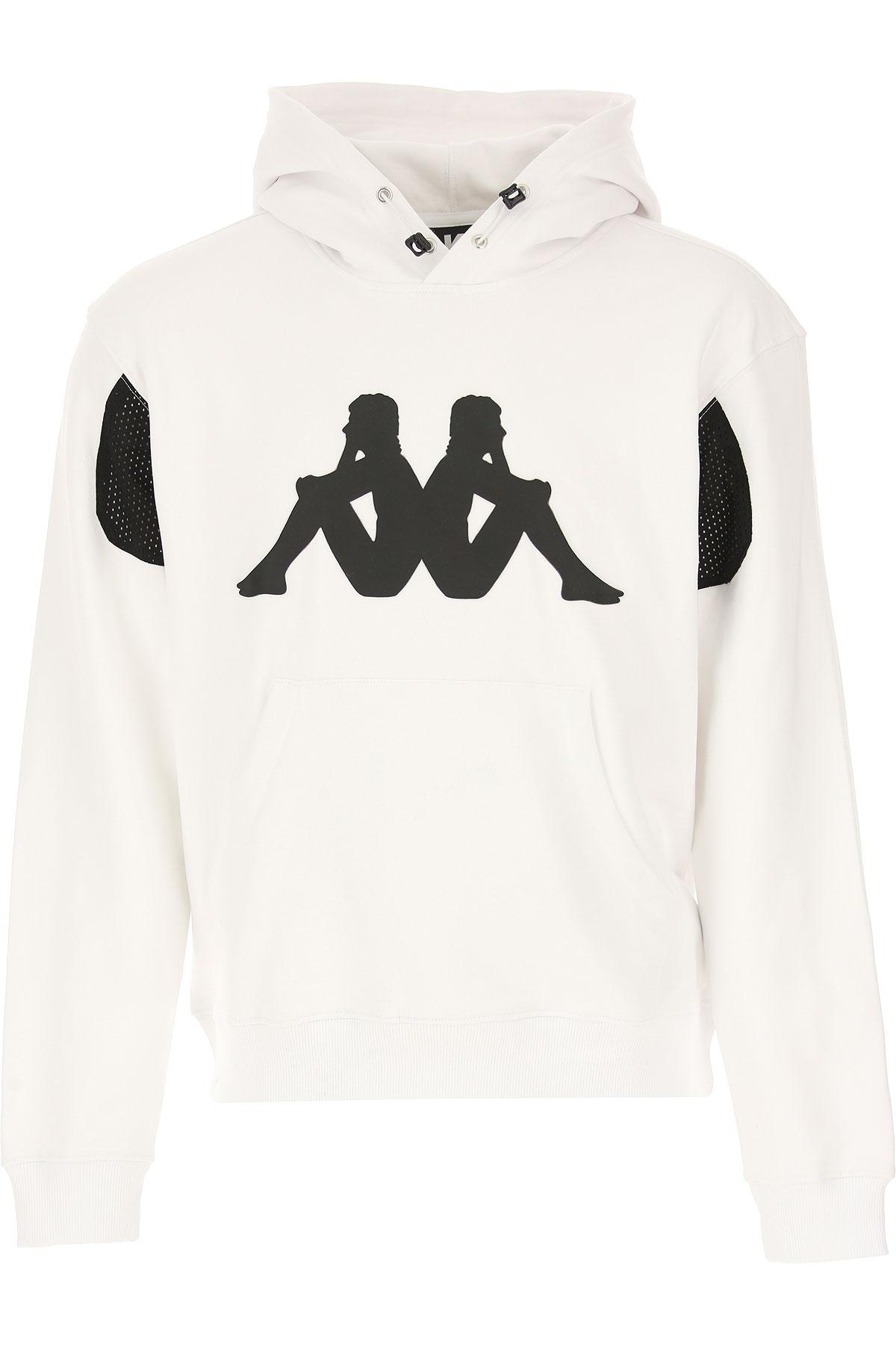 Kappa Kontroll Sweat Homme Pas cher en Soldes, Blanc, Coton, 2019, L M S XL