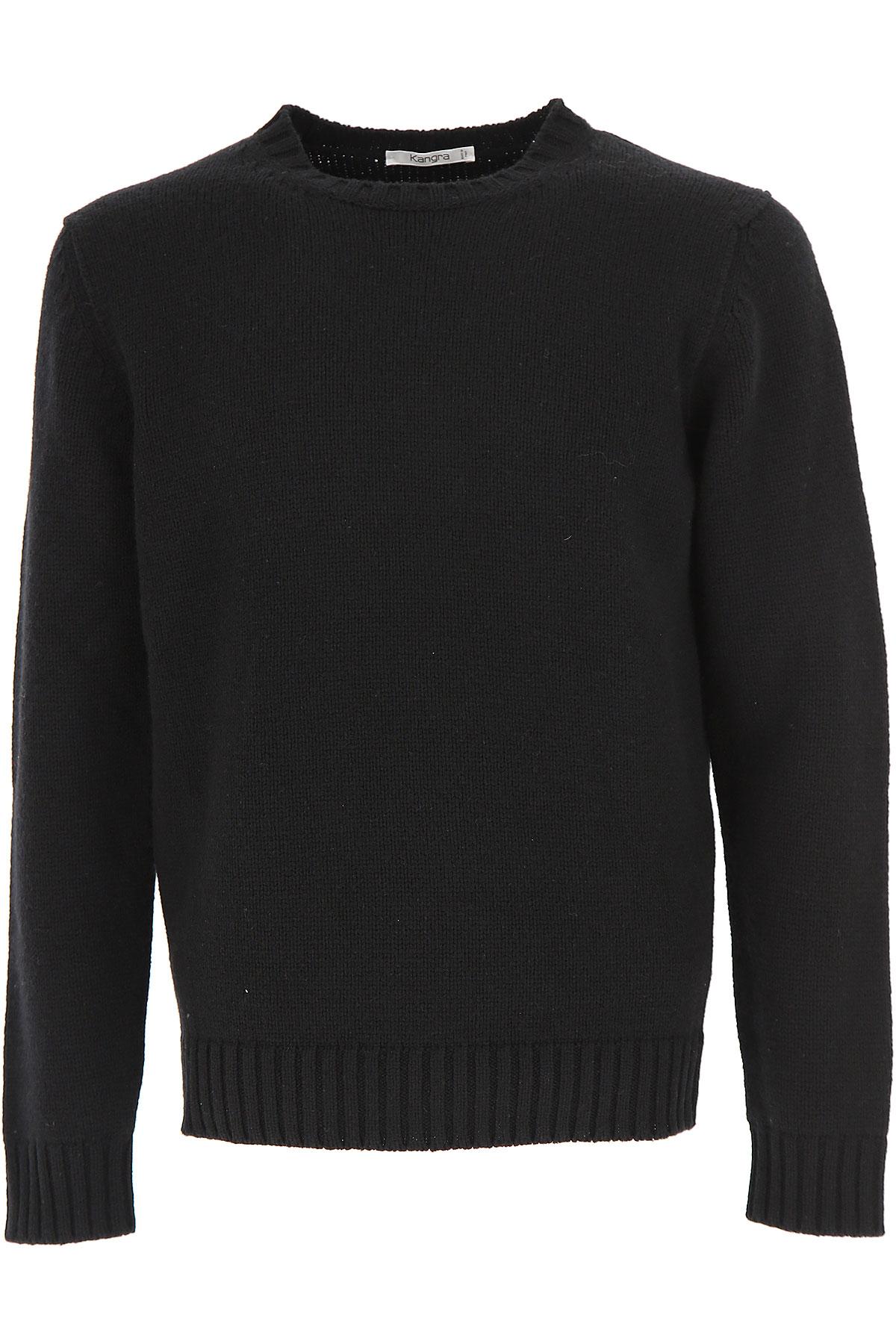 Image of Kangra Sweater for Men Jumper, Black, Wool, 2017, 2 - Uk/Usa M - Ita 48 3 - Uk/Usa L - Ita 50 4 - Uk/Usa XL - Ita 52 5 - Uk/Usa XXL - Ita 54